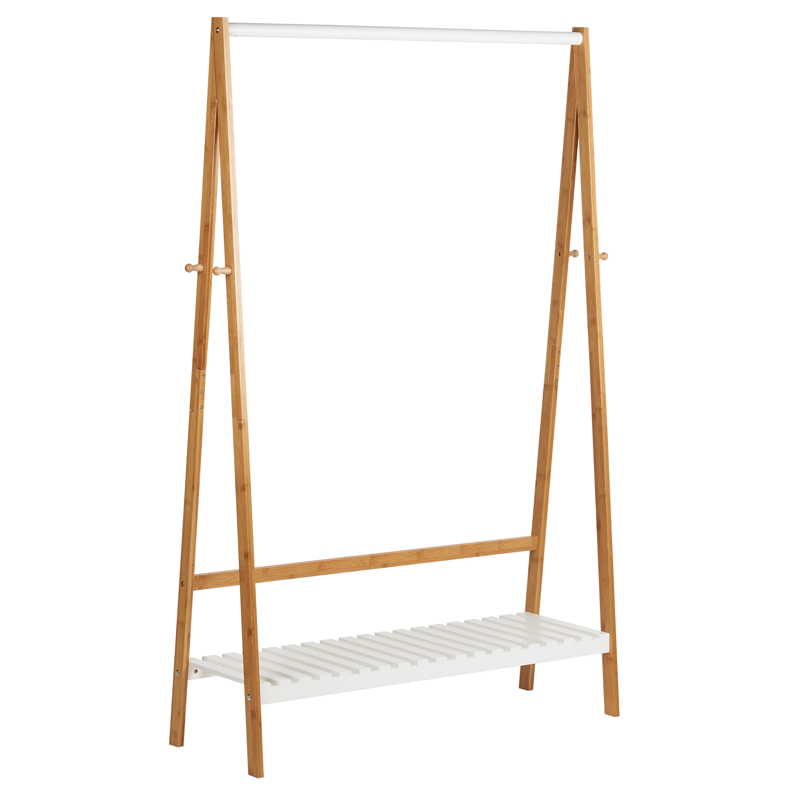 Wooden Clothes Rack: Hartleys Wooden Clothes Rail Hanging Garment Rack Stand