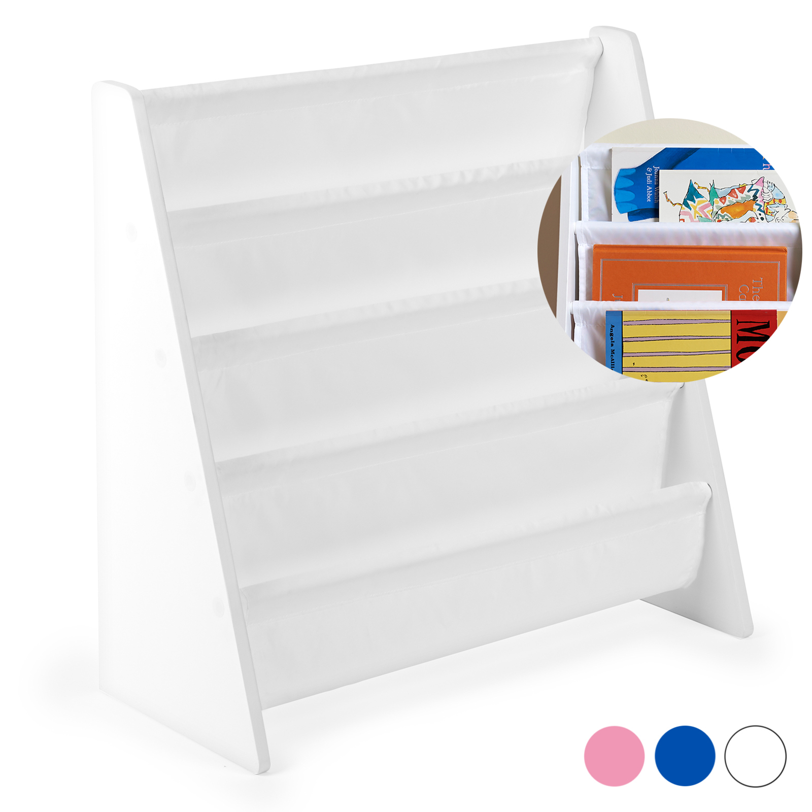 Hartleys-Childrens-Book-Shelf-Kids-Bedroom-Play-room-Storage-Bookcase-Rack-Tidy thumbnail 19