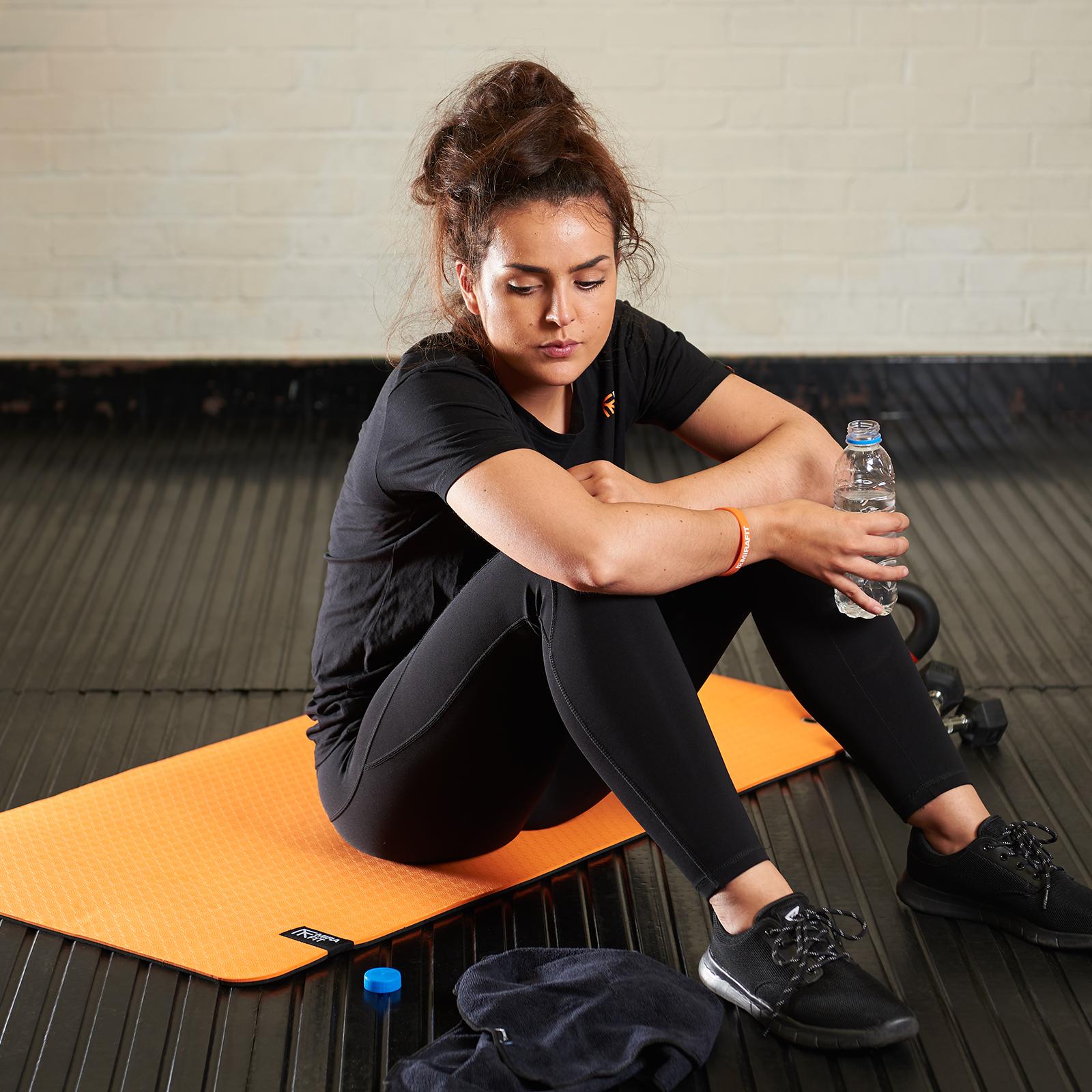 Mirafit yoga//ginnastica Esercizio Tappetino Con Occhielli TPE Schiuma Palestra Fitness CLASSE