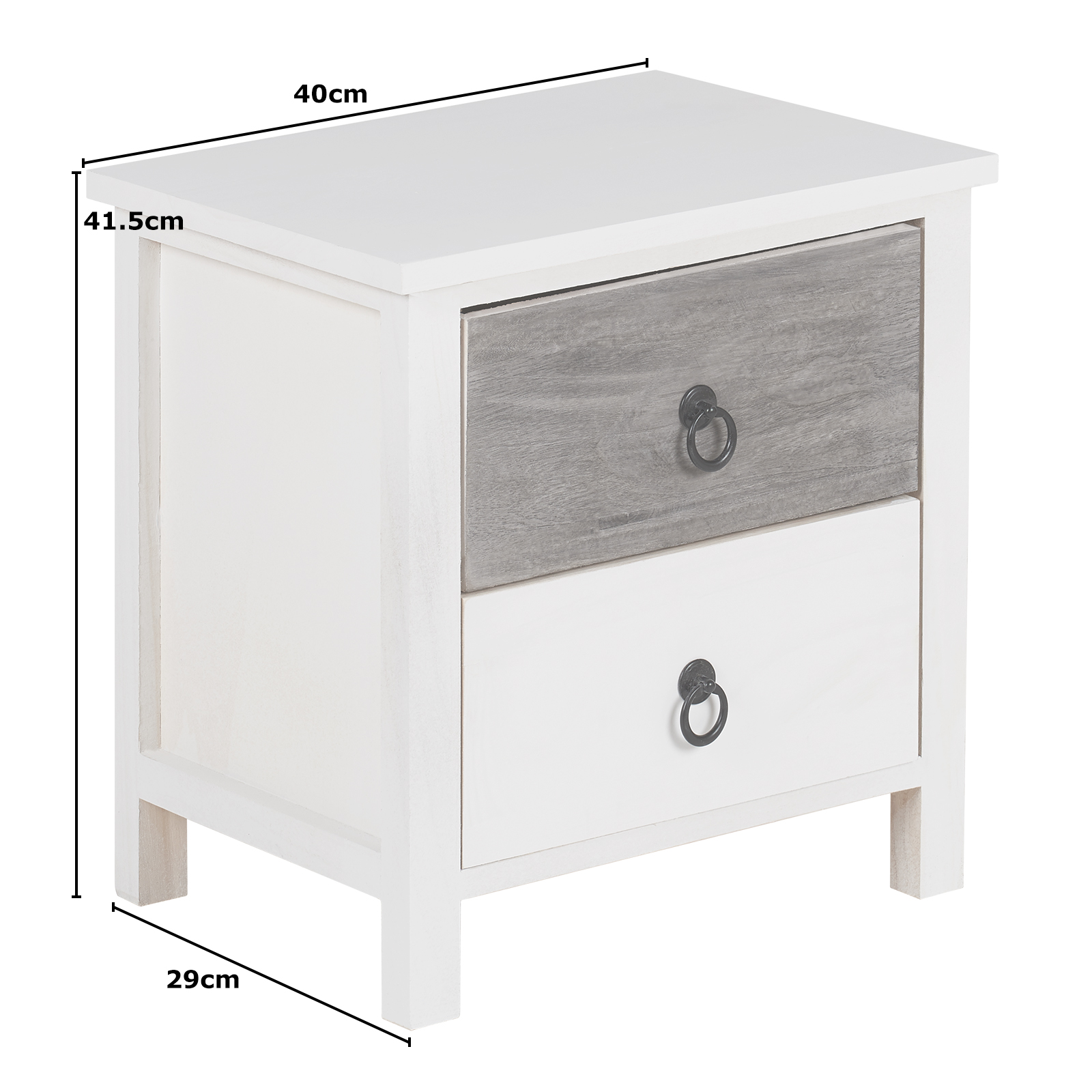 Details About Hartleys Small White Bedside Table 2 Drawer Nightstand Bedroom Furniture