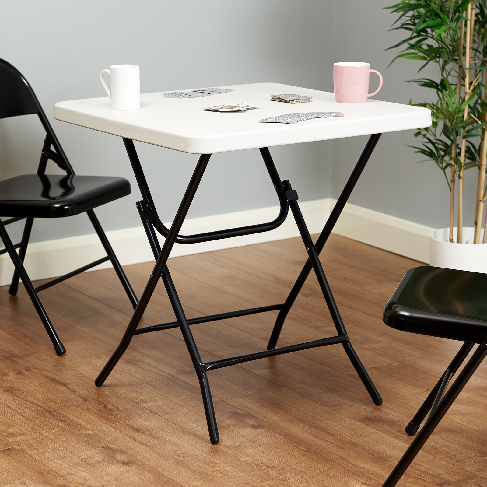hartleys small square white folding table picnickitchen