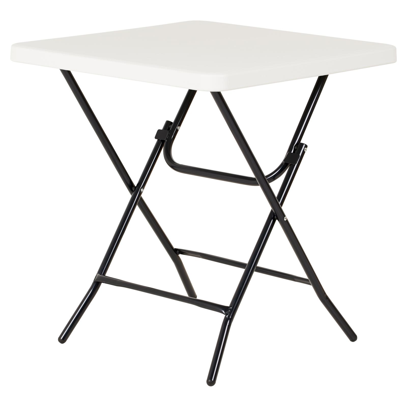 Dettagli su Hartleys Piccolo Quadrato Bianco Pieghevole Tavolo  Picnic/Cucina/Campeggio/Giardino/Festival- mostra il titolo originale