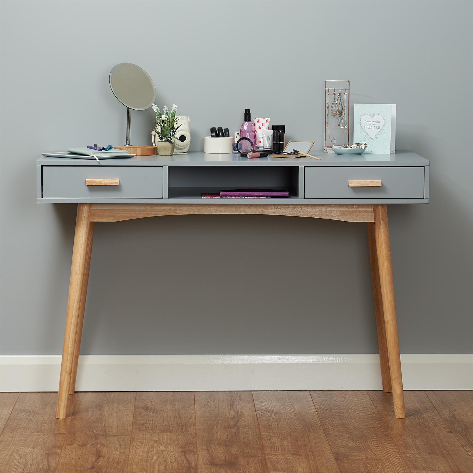 grey scandinavian modern bedroom dressing table makeup 17223 | grey retro desk makeup table