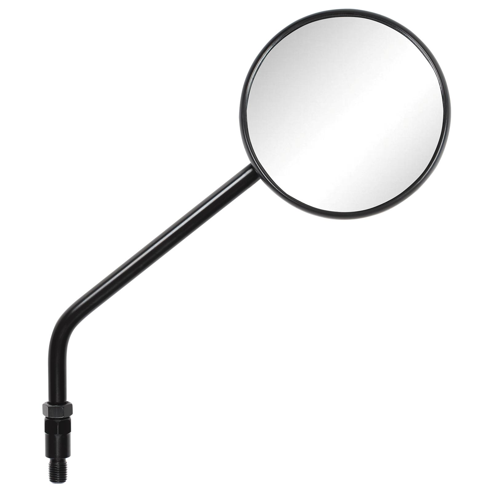 Stem At Ryde Academy Rydestem: Ryde Black Round Adjustable Motorcycle Rearview Mirrors