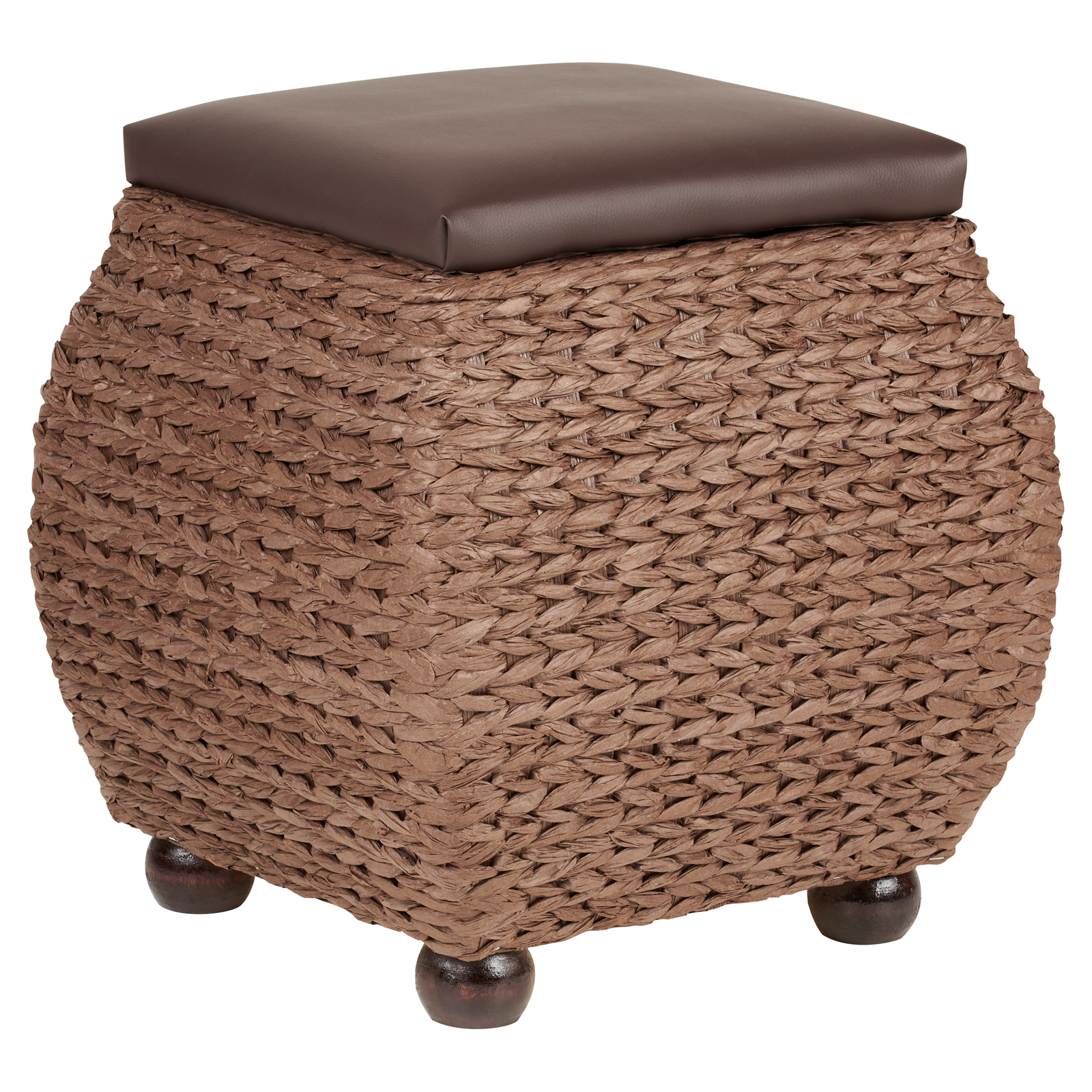 Strange Details About Hartleys Small Brown Storage Ottoman Footstool Bench Pouffe Toy Trunk Box Caraccident5 Cool Chair Designs And Ideas Caraccident5Info