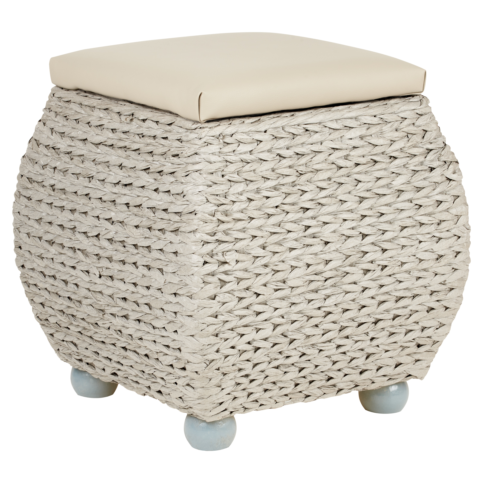 Sentinel hartleys small grey storage ottoman footstool bench pouffe toy trunk box