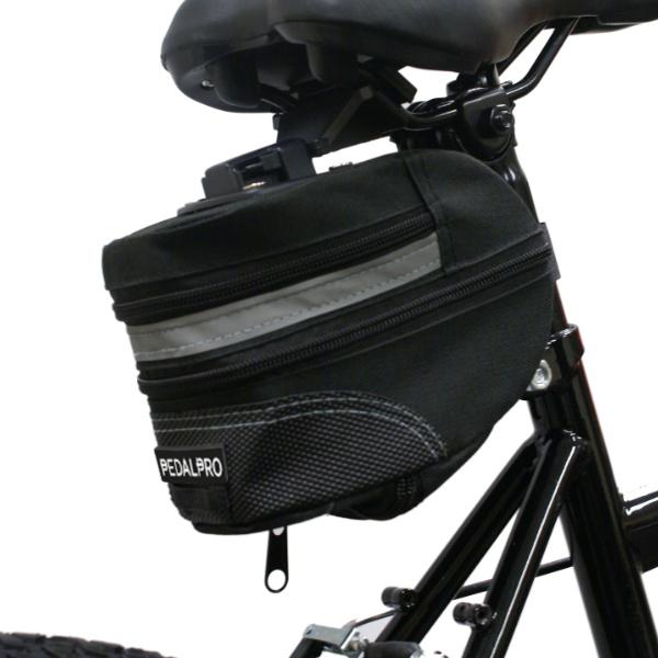 Sacoche de selle avec support sac de vélo sac de cadre noir neuf vélo sac