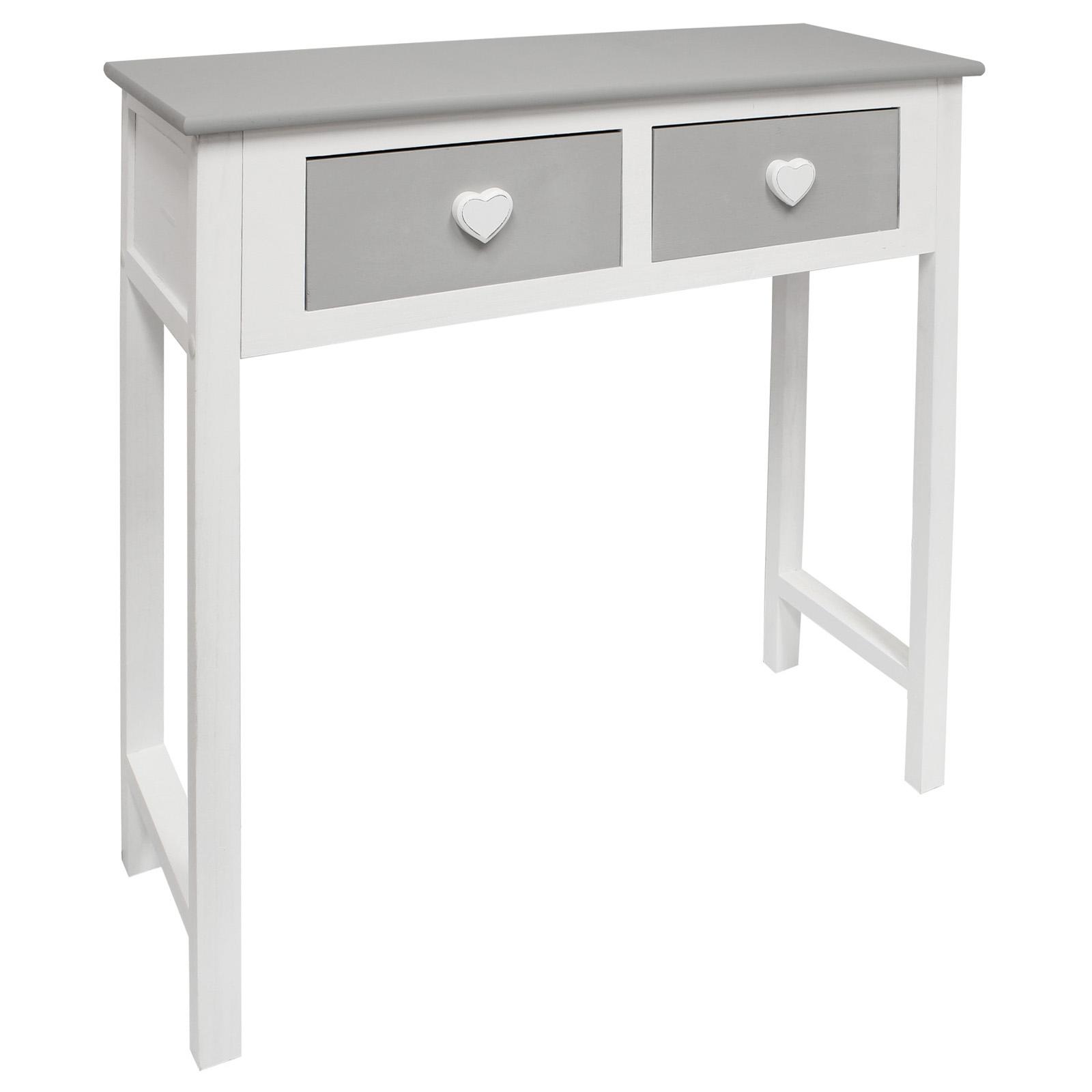 Details Sur Hartleys Table Console Coiffeuse Bureau Chambre Coeur Blanc Gris Chambre Fille