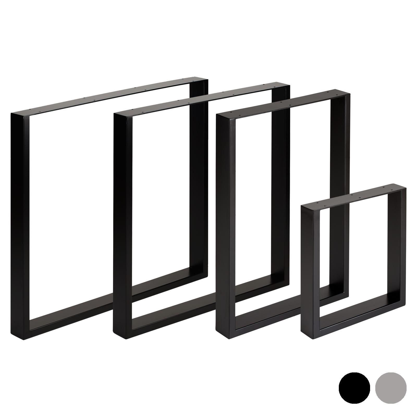 Detalles de Hartleys conjunto de 2 patas de metal industrial Mesa Cuadrada  Comedor/banco/Oficina/Escritorio- ver título original