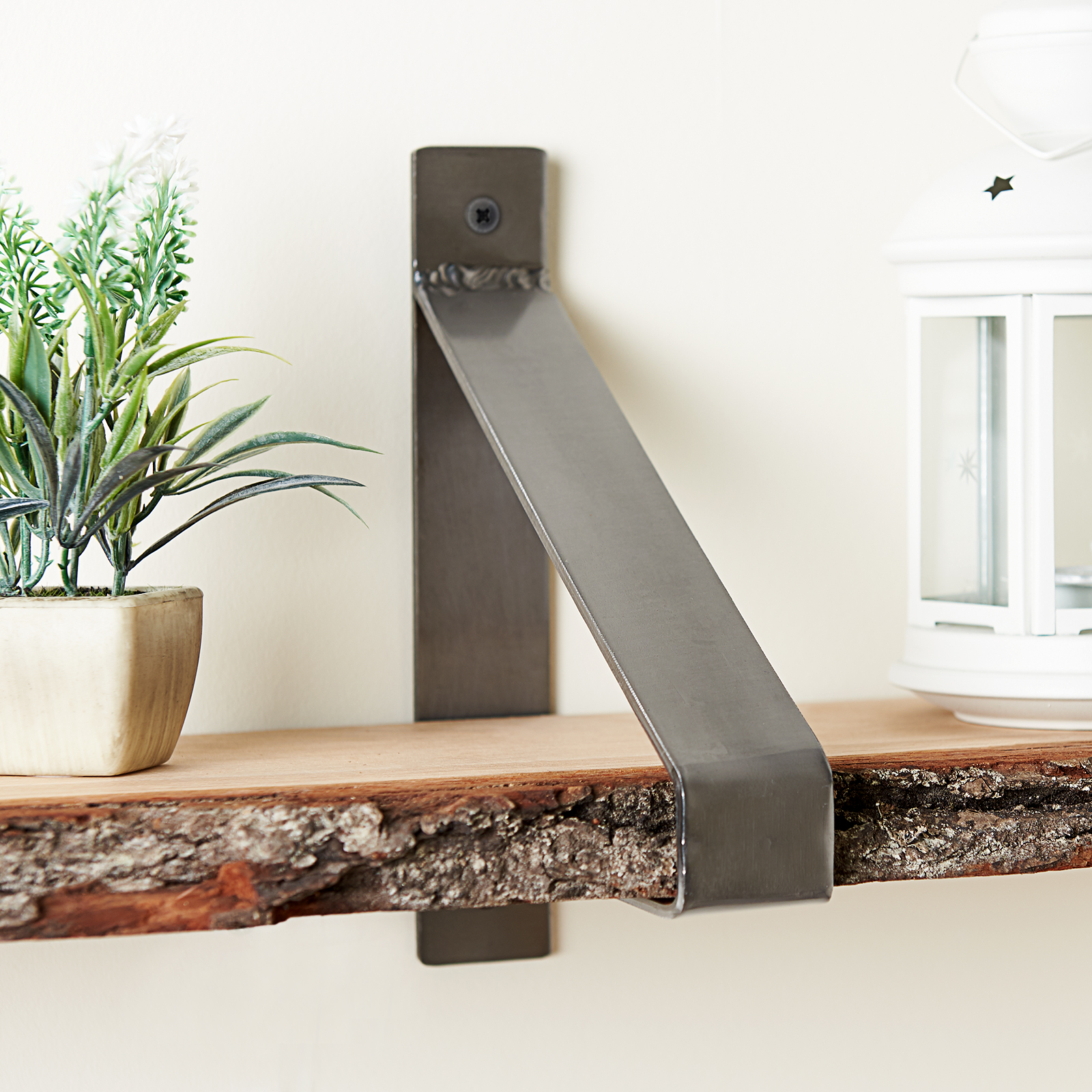 Remarkable Details About Hartleys 2 X Industrial Metal Shelf Brackets Floating Suspended Shelves Supports Interior Design Ideas Gentotthenellocom