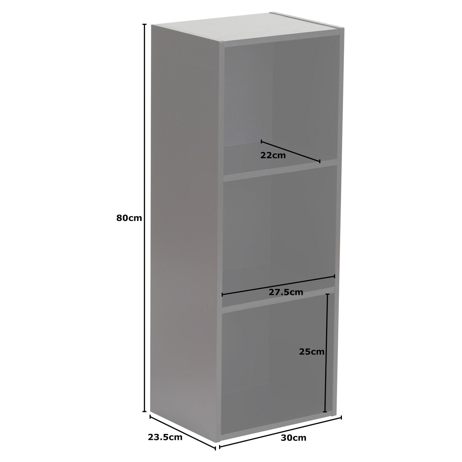 Details Sur Hartleys Meuble Rangement Cube Tiroirs Commode Noir 3 Niveaux Boites Couleur