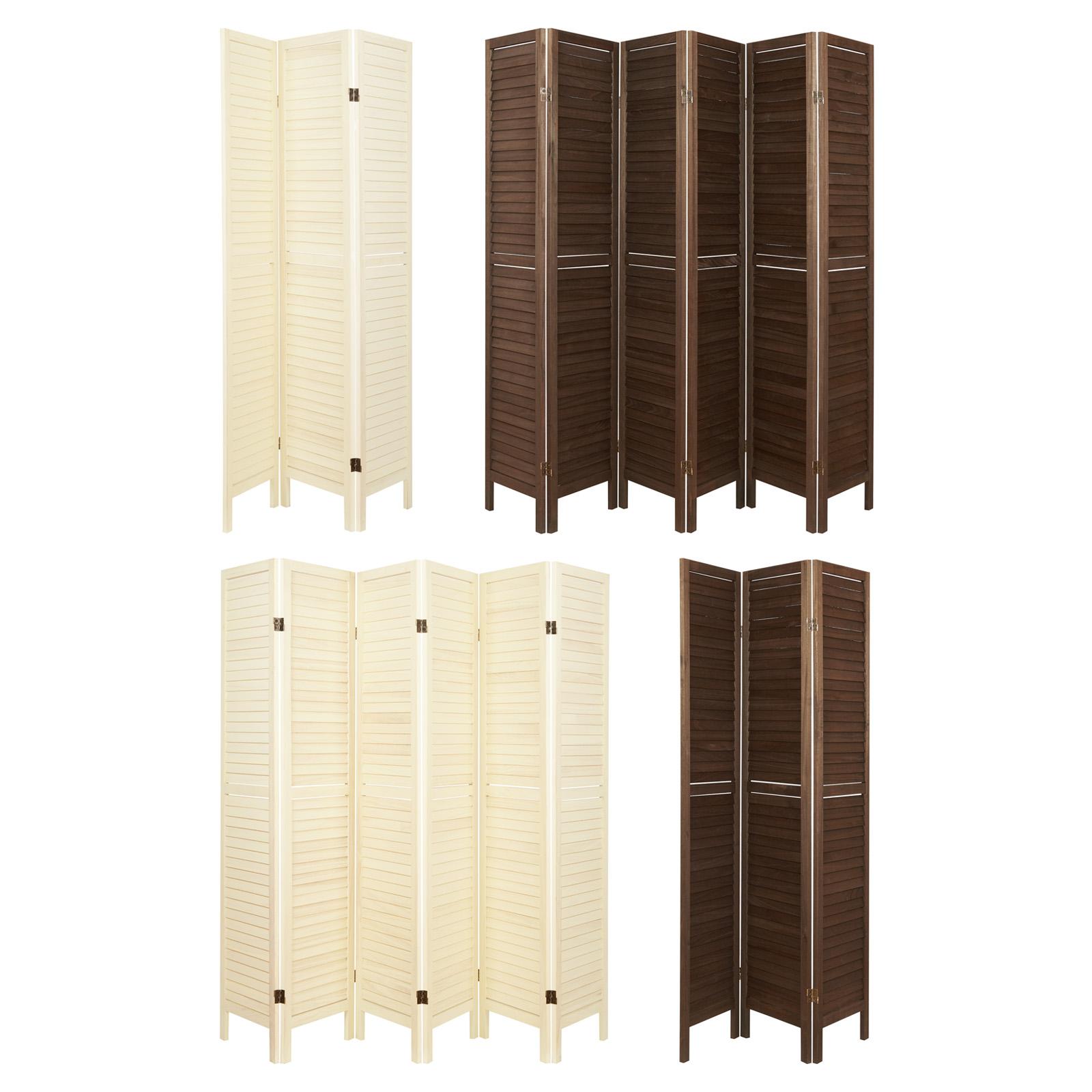 Details Sur Hartleys Paravent Cloison Separateur Diviseur Pieces Salles Pliante Lattes Bois