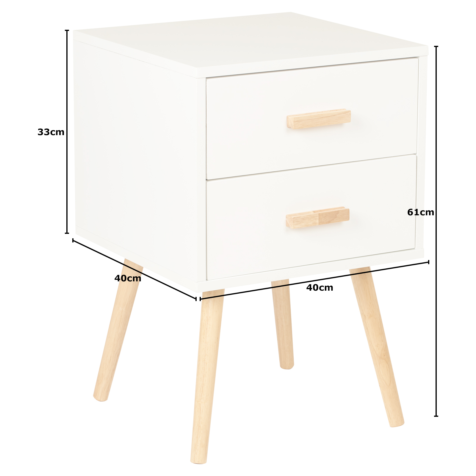 sentinel hartleys table chevet nuit rtro 2 tiroir blanc meuble chambre design scandinave