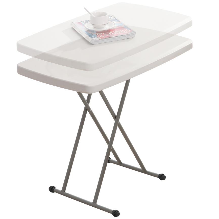 Table Pliante Reglable En Hauteur.Details Sur Hartleys Table Pliante 74 5cm Hauteur Reglable Portable Facile A Nettoye Blanc