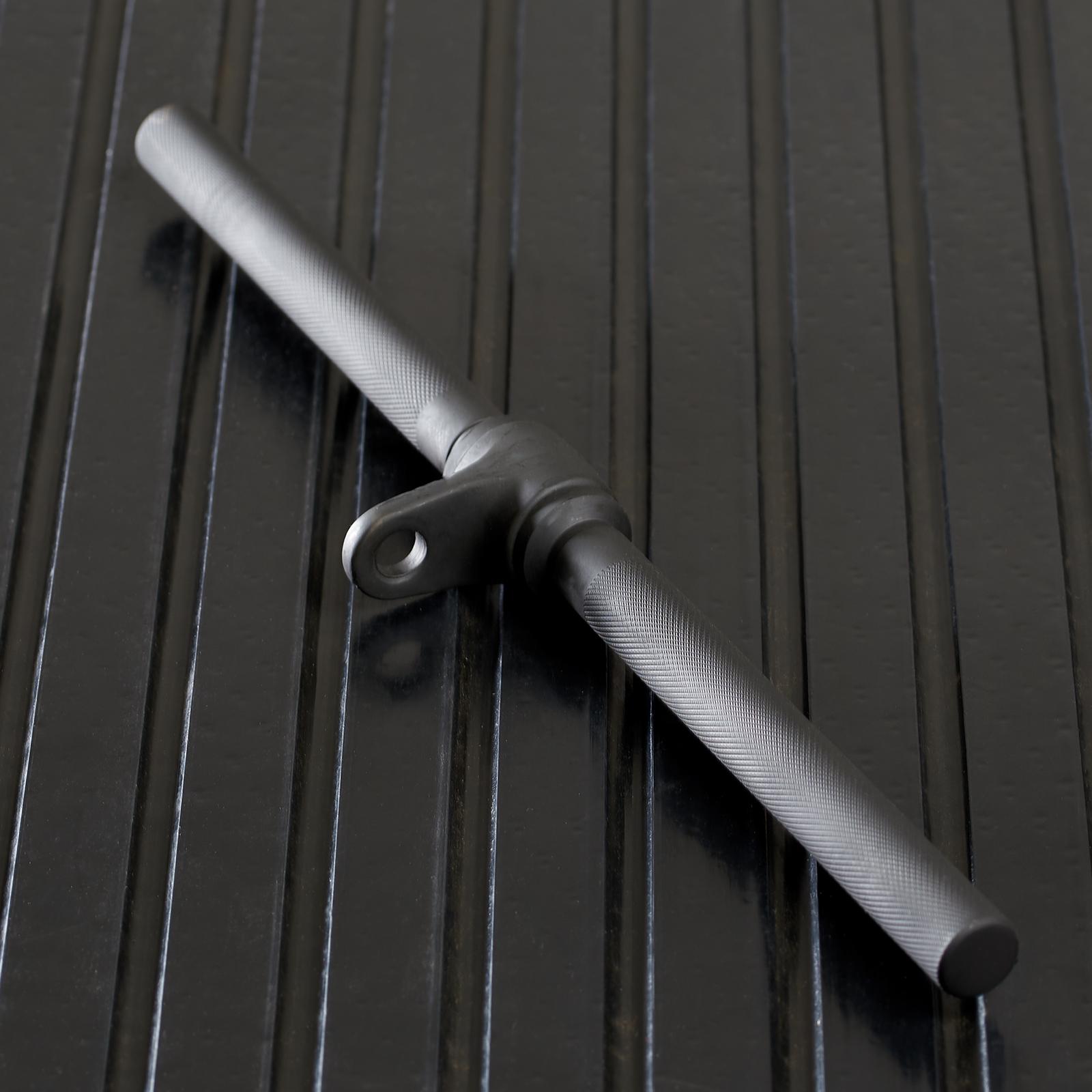 Multi Gym Mirafit Attache Barre Droit Tournante 50cm pour Systemes de Cable