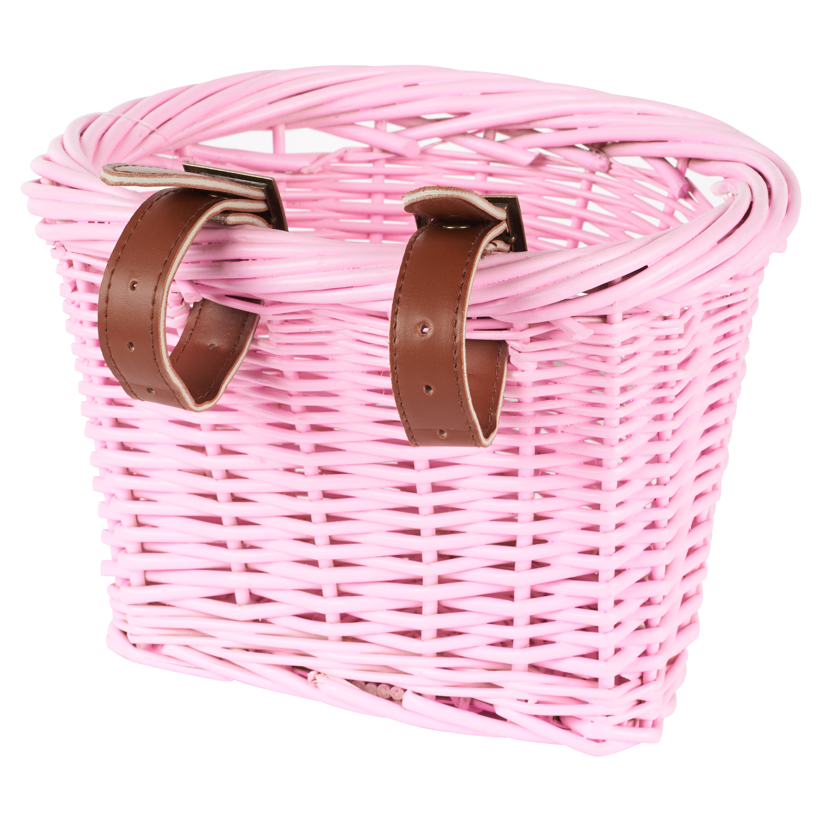Children Wicker Bicycle Shopping Basket W// Strap For Kids Boys Girls Bike Cycle