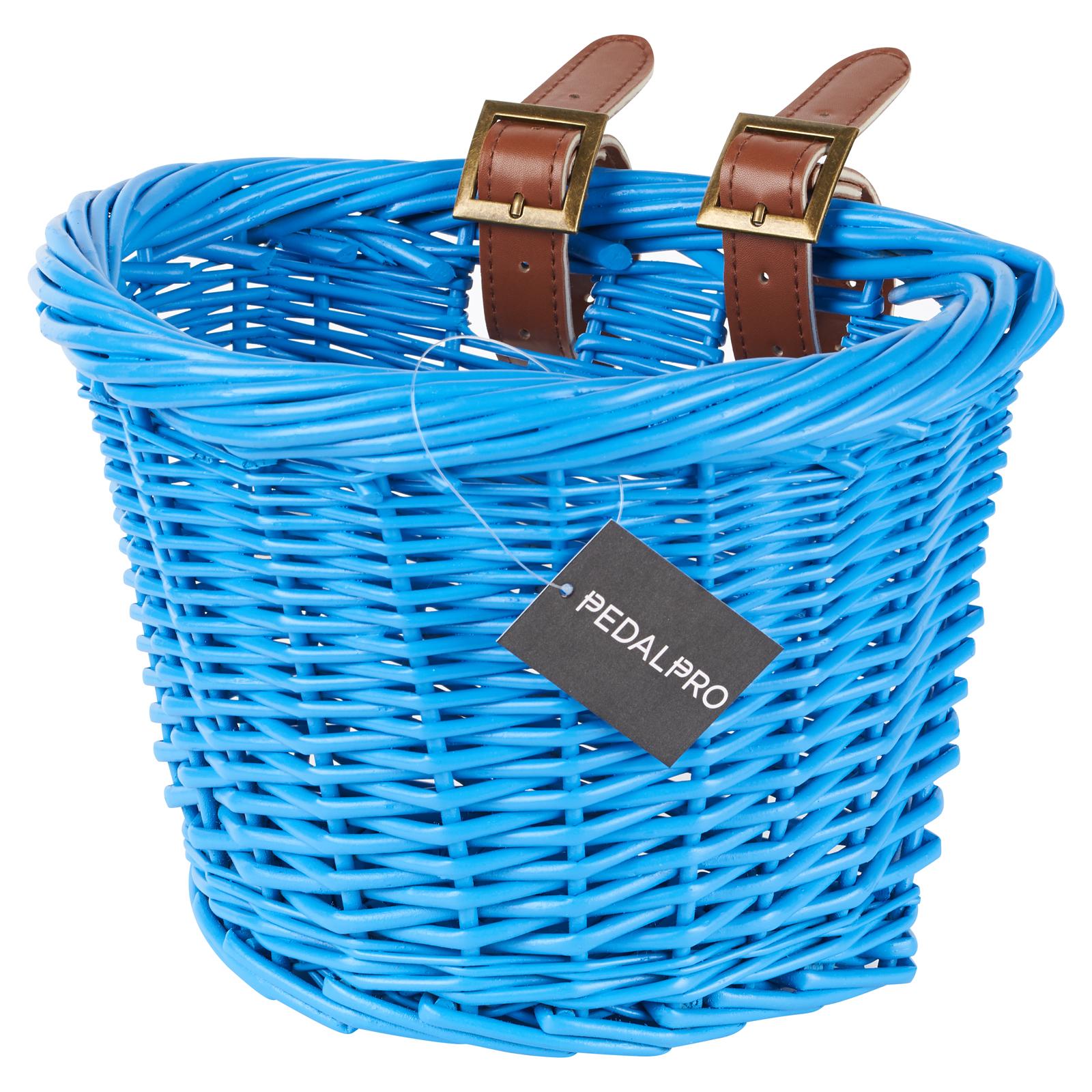 Children Bicycle Basket Retro Wicker Bicycle Shopping Basket For Boys Girls Bike