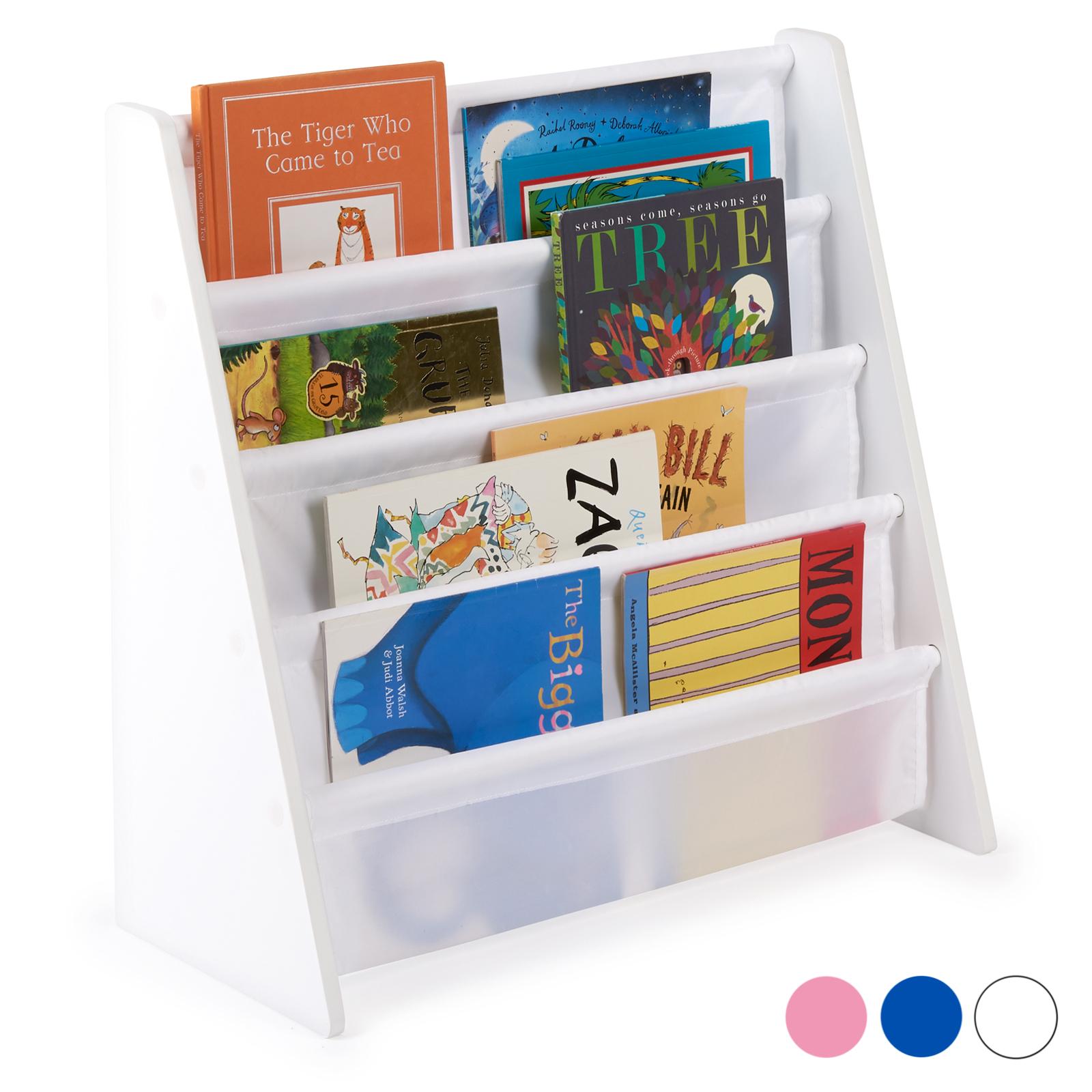 Scaffali E Librerie Per Bambini.Dettagli Su Hartleys Libreria Scaffale Bambini Per Libri A Piedistallo In Legno Bianco