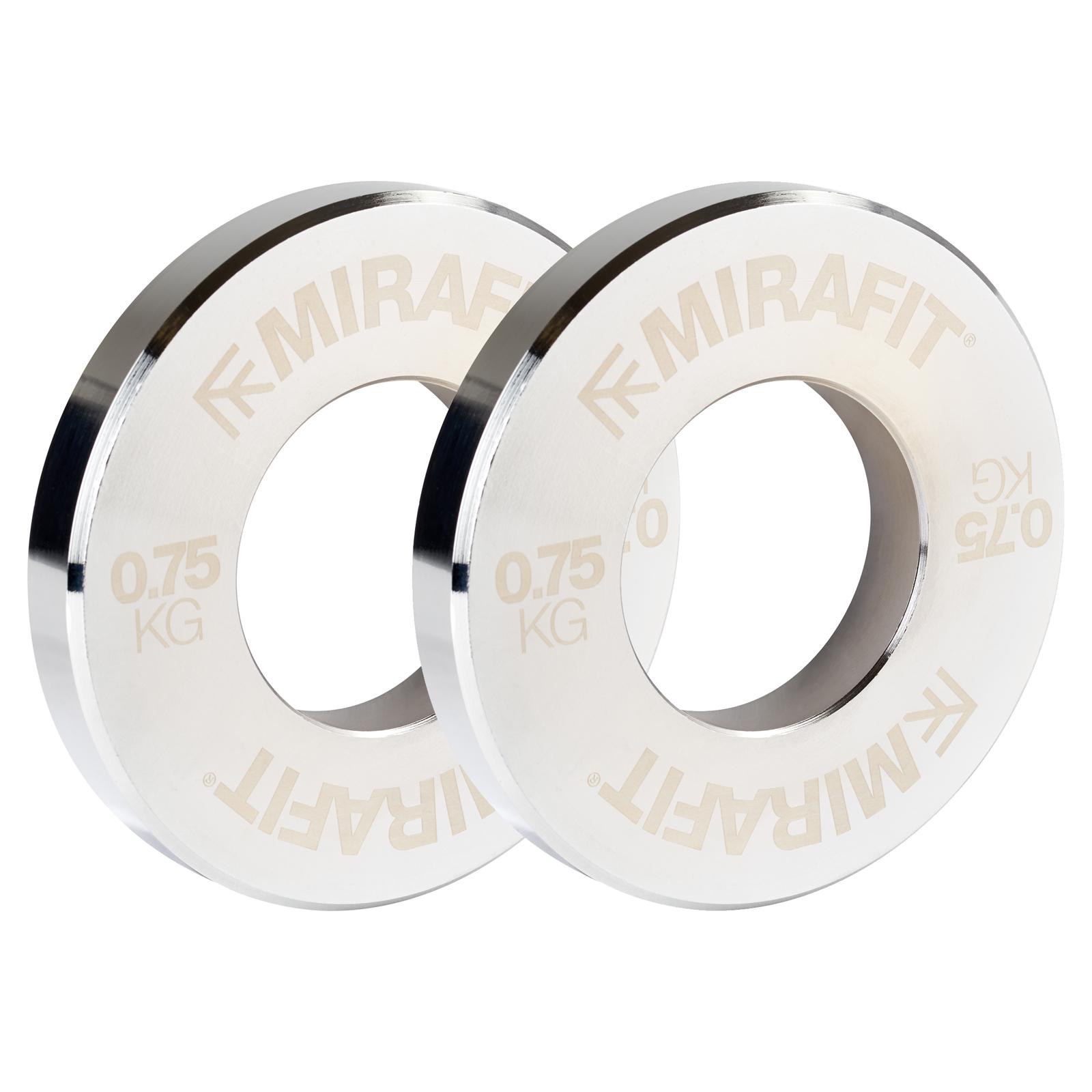 Set of Olympic Fractional Steel Weights //Plates includes 1kg 0.75kg 0.5kg 0.25kg