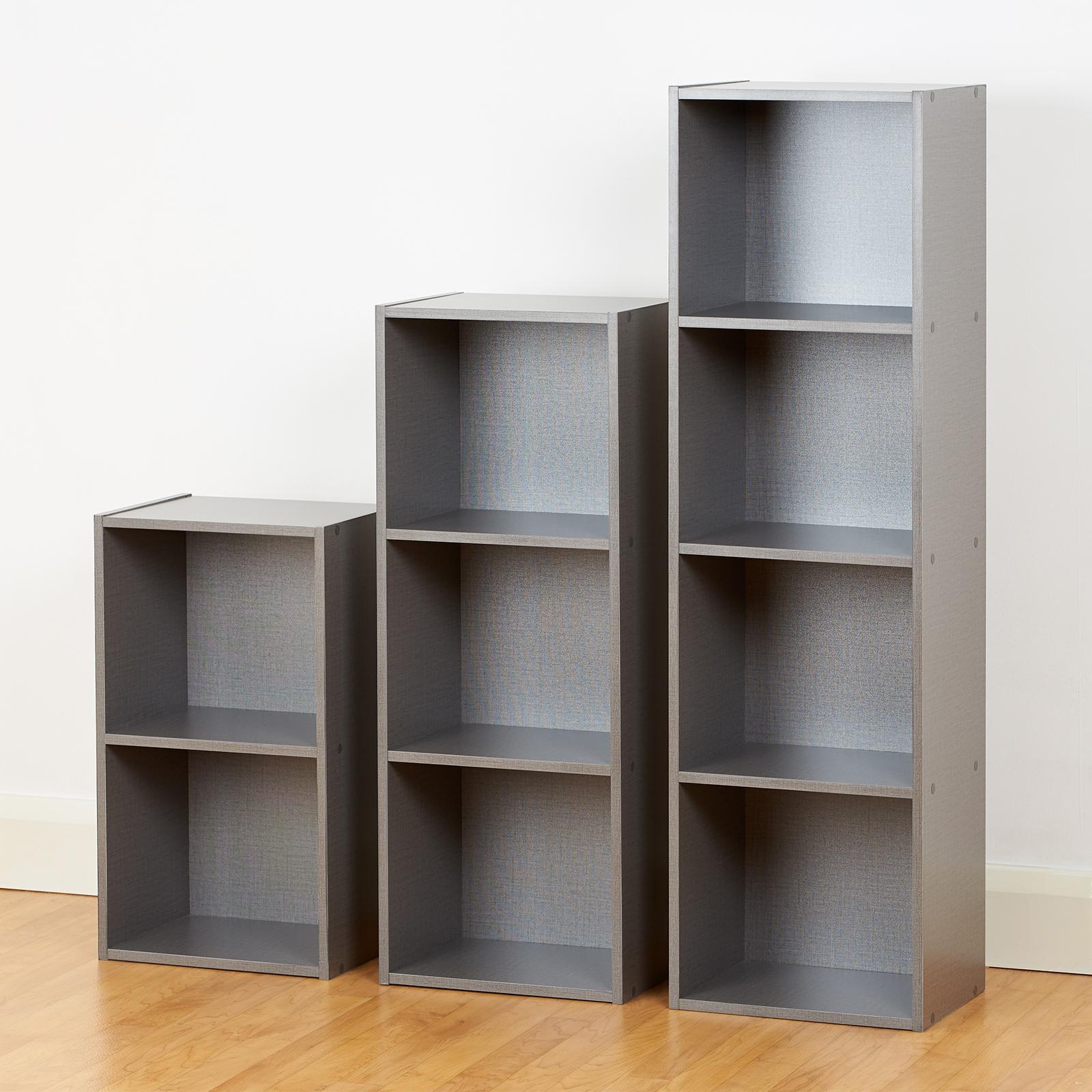 9 Cube Grey Modular Square Wooden Storage Unit 4 Tier