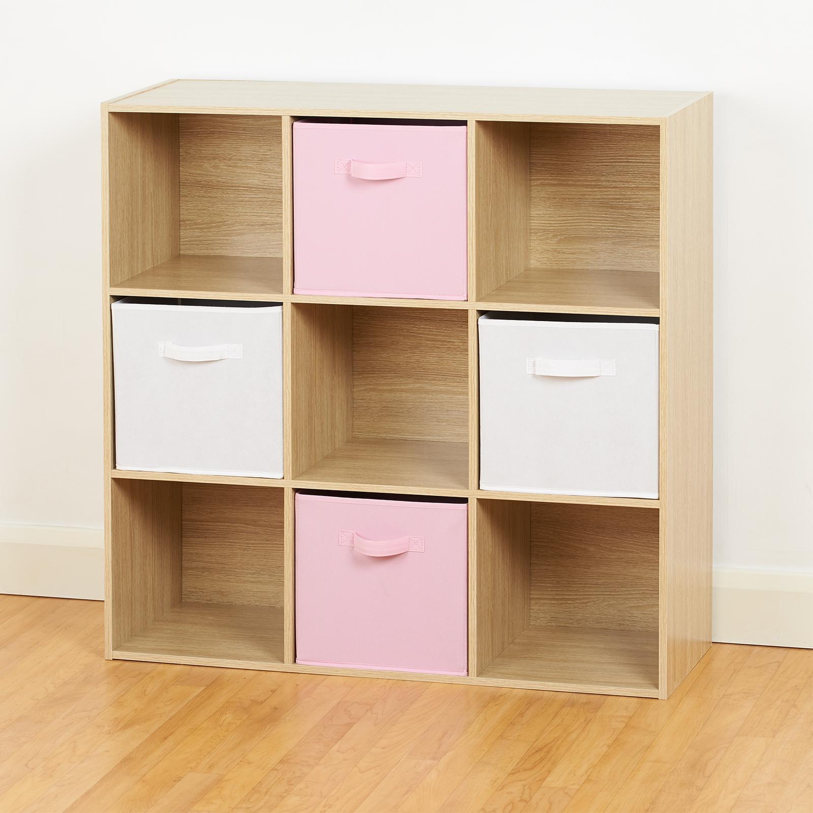 9 Cube Storage Unit White Pink Bo