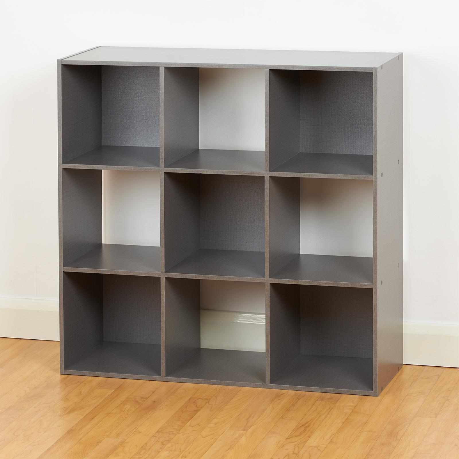 Kids Storage Cube Organizer Toy Box Kids Bedroom Furniture: Grey 9 Cube Storage Unit Cabinet Childrens/Kids Bedroom