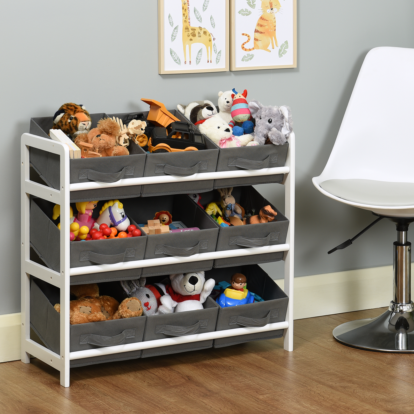 Details about Hartleys 3 Tier Storage Shelf Unit Kids Childrens Bedroom  Boxes/Drawers Toy Box
