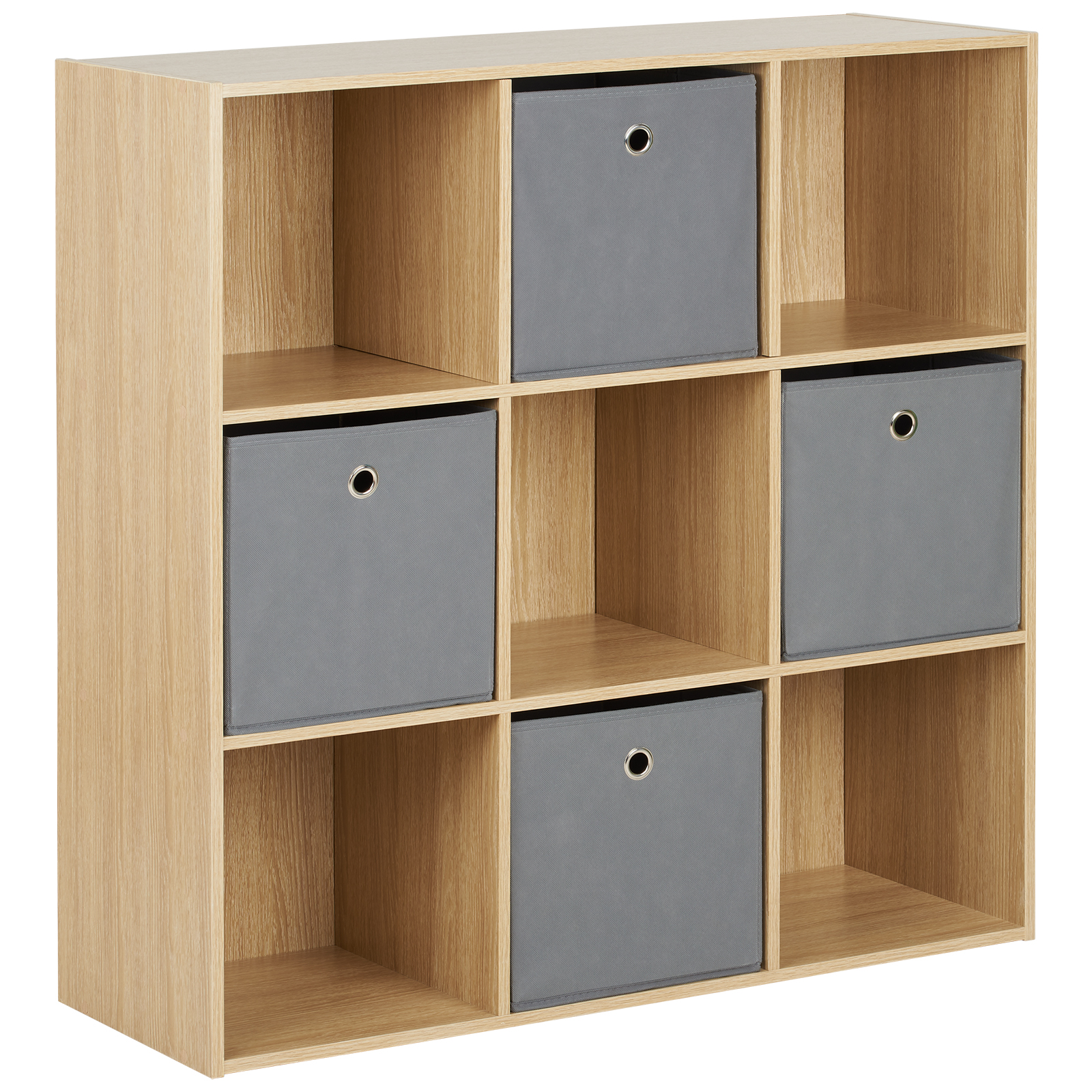 Détails sur Hartleys Unité 9 Cubes en Bois et 4 Tiroirs/Bacs de Rangement  Gris Salon/Chambre