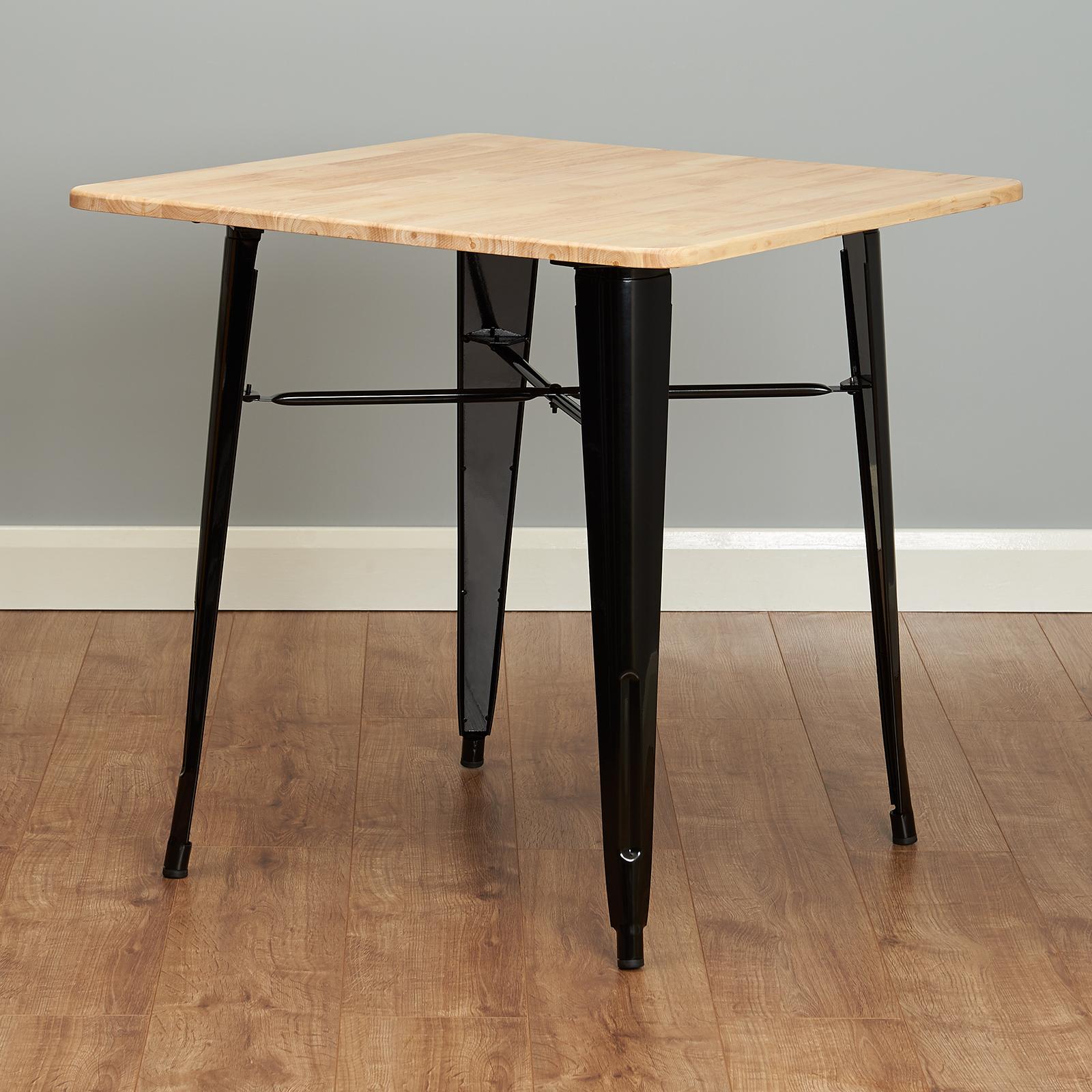 Tavolo Da Pranzo Stile Industriale.Hartleys Tavolo Tavoli Da Pranzo Stile Industriale Nero Con