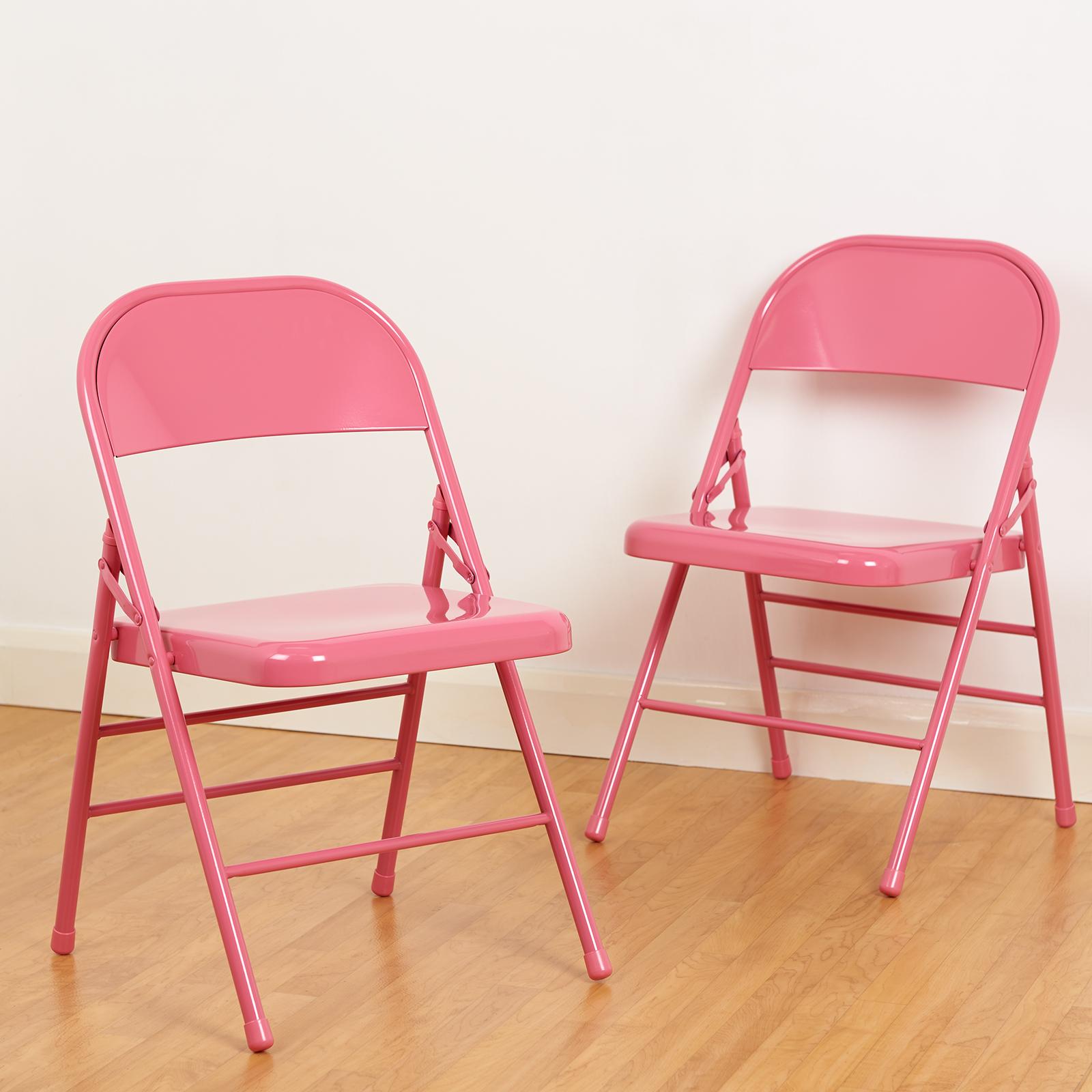 Sedie Pieghevoli Offerte Milano.Dettagli Su Roost Set Di 2 Sedie Pieghevoli Sedile Sedia Pieghevole Design In Metallo Rosa
