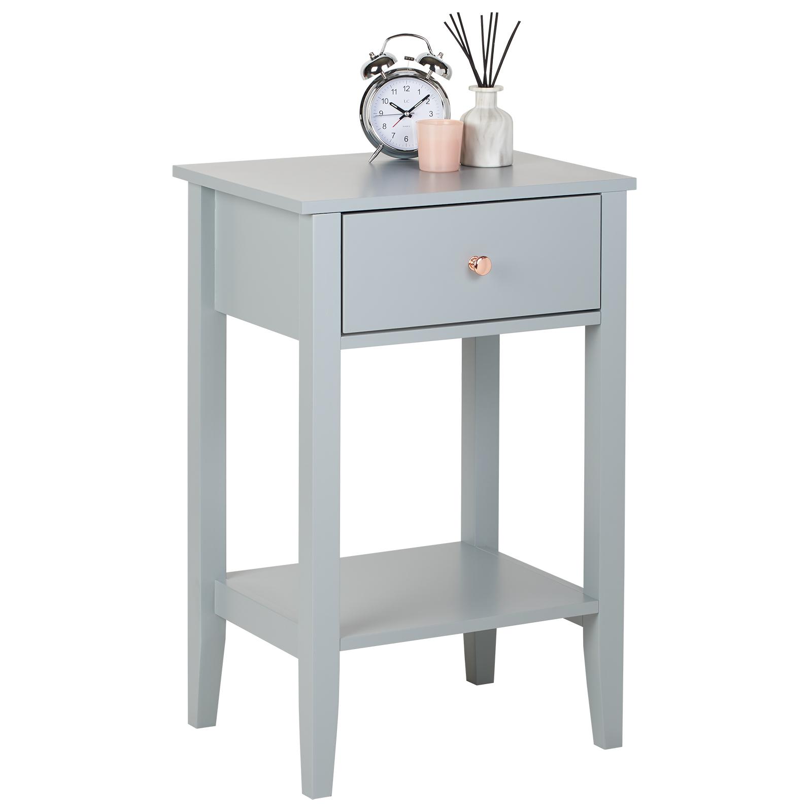 Détails sur HARTLEYS gris & or rose table chambre à coucher/Salon  côté/table de nuit Table de chevet- afficher le titre d\'origine