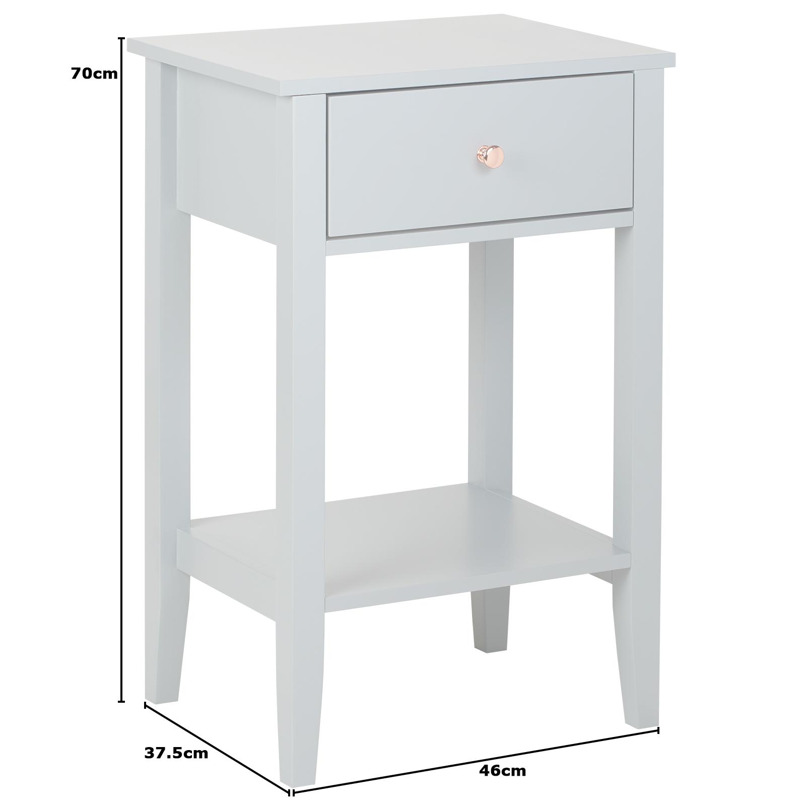 Hartleys Grey Rose Gold Table Bedroom Living Room Side Bedside Nightstand 5051990767096 Ebay