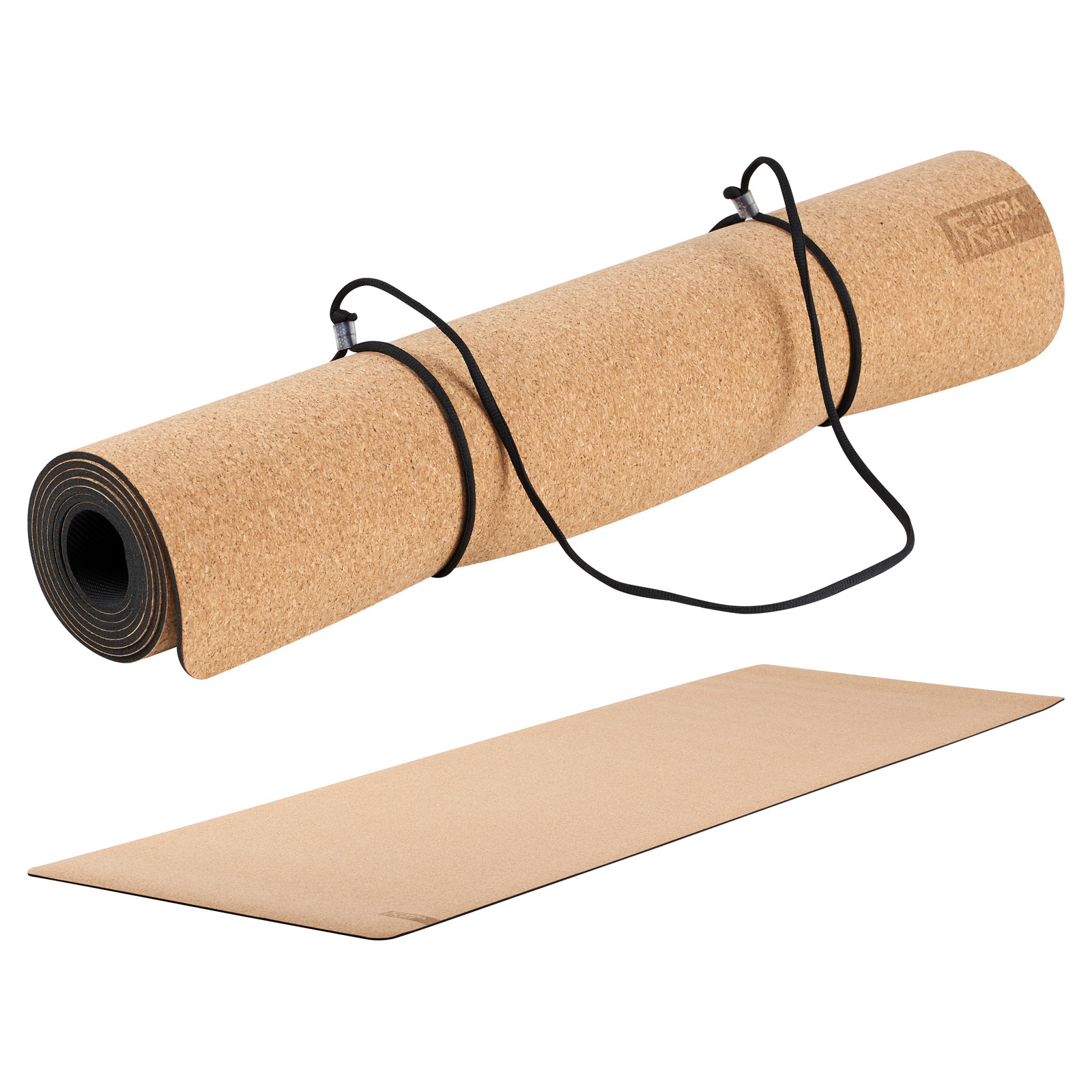 Mirafit 3.5mm Non Slip Natural Cork and Rubber Yoga/Pilates/Ab Exercise Mat Gym