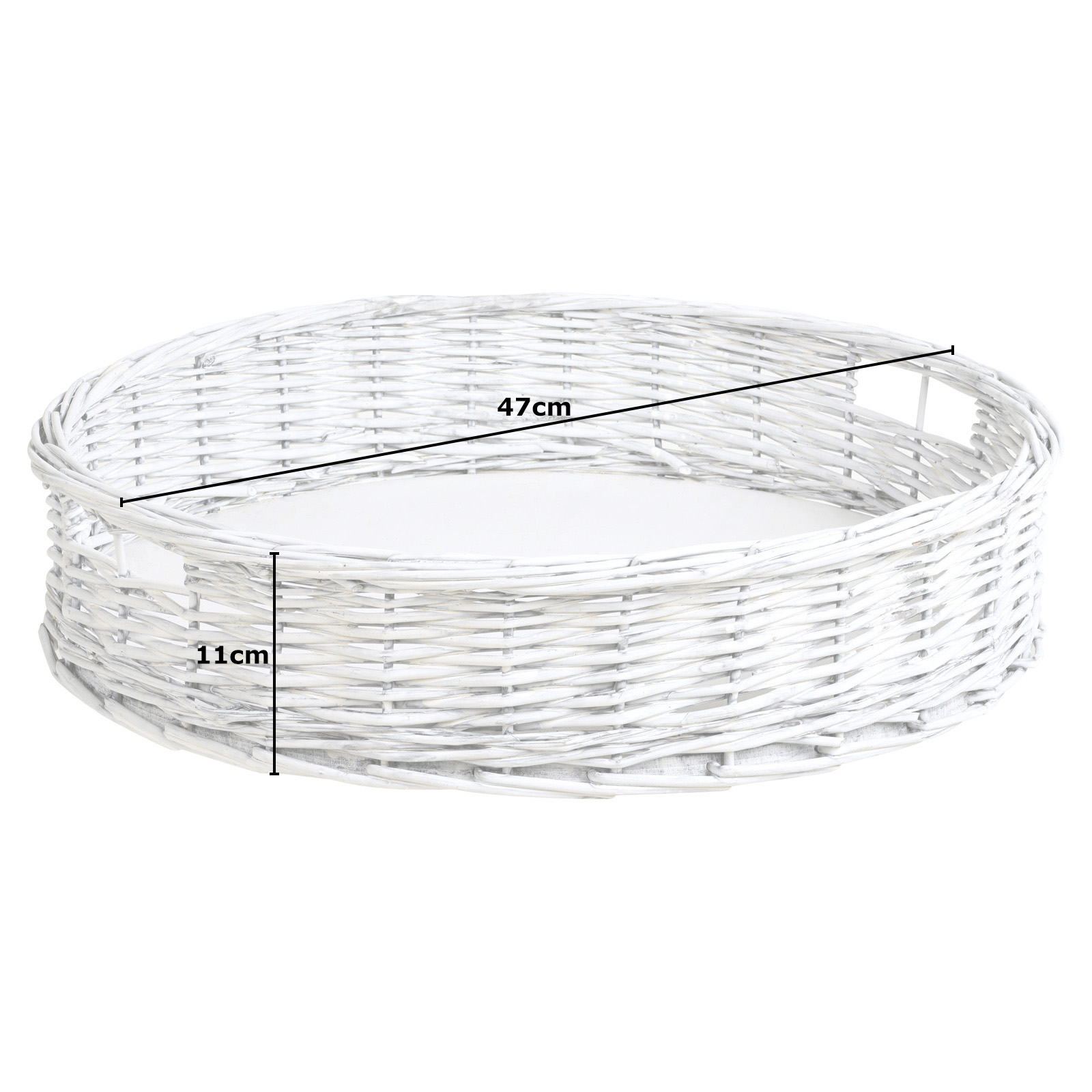 Hartleys-Round-Wicker-Serving-Tray-Decorative-Wooden-Platter-Coffee-Table-Decor thumbnail 14