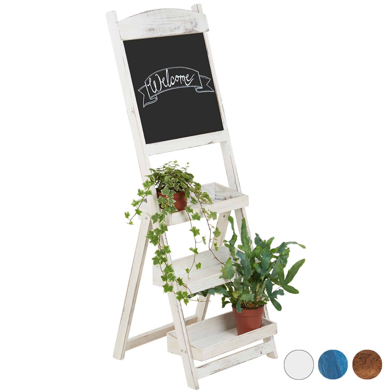 Détails Sur Hartleys étagères à 3 Niveaux Tableau Noir Présentoir Plantes Planche Dessin