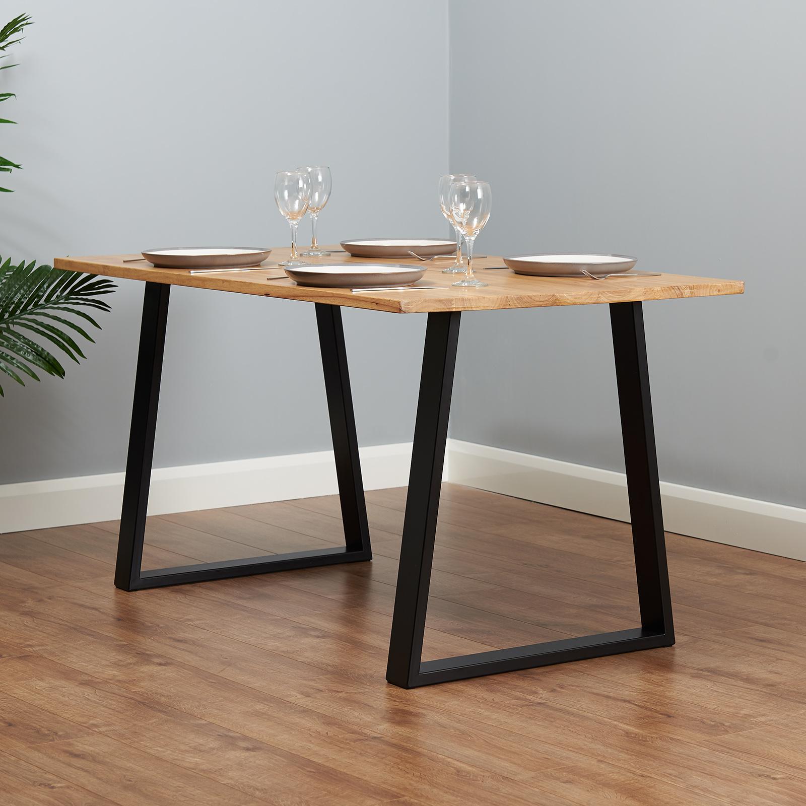 Hartleys Set Of 2 Industrial Metal, Dining Room Table Legs Metal