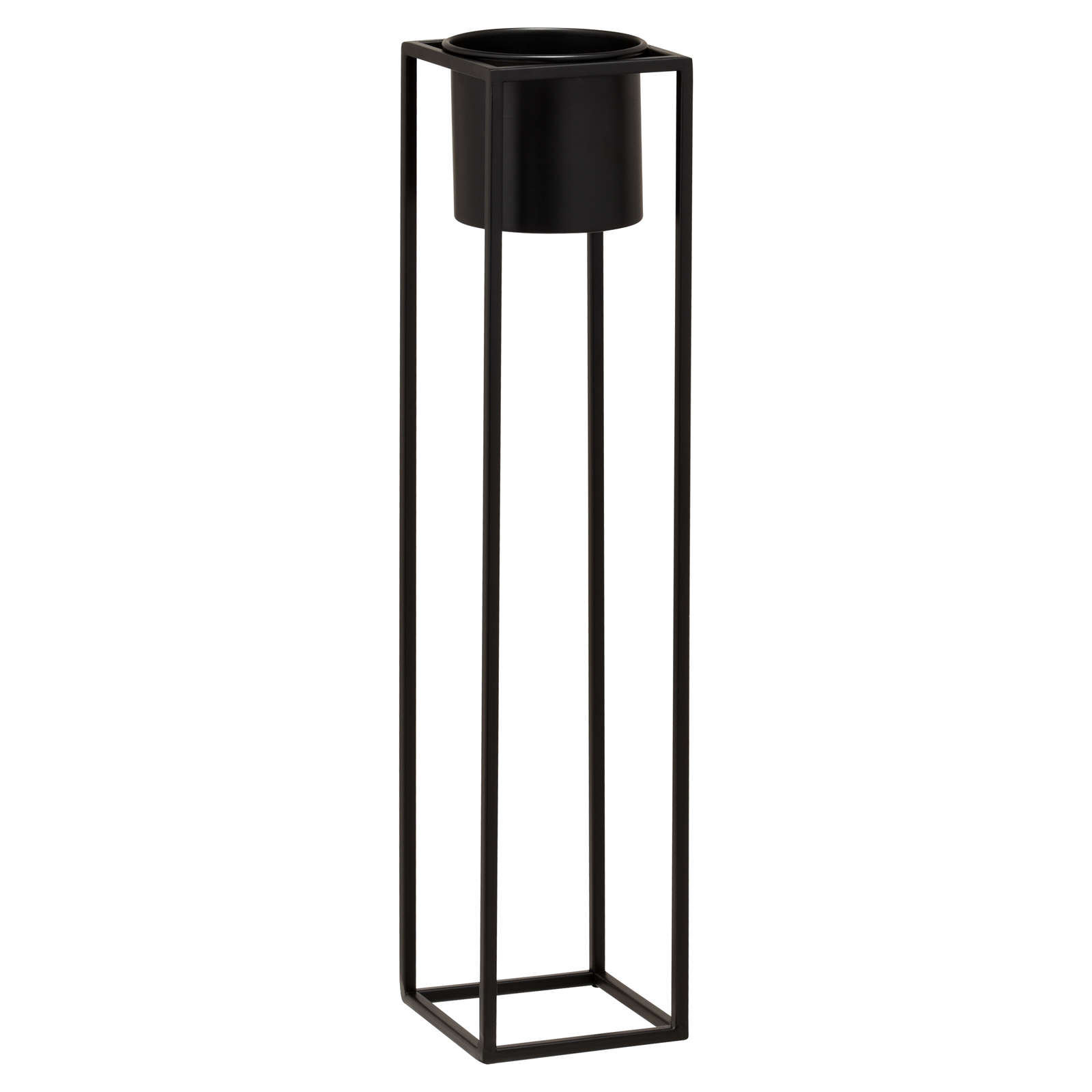 Hartleys-Small-Round-Freestanding-Black-Metal-Plant-Pot-Tall-Square-Floor-Stand thumbnail 20