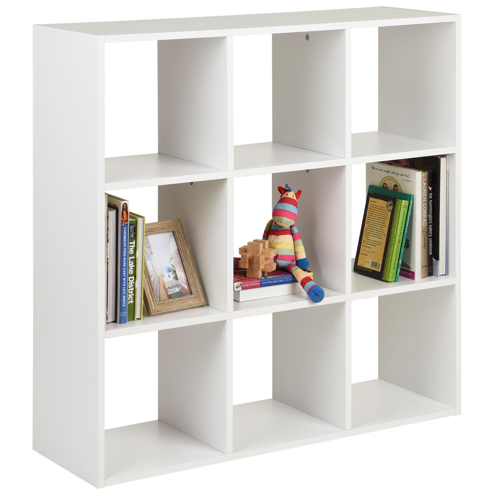 Scaffali Libreria Bianchi.Dettagli Su Hartleys Scaffali Scaffale Libreria Bianchi Con 9 Cubi Ripiani Moderno Mobili