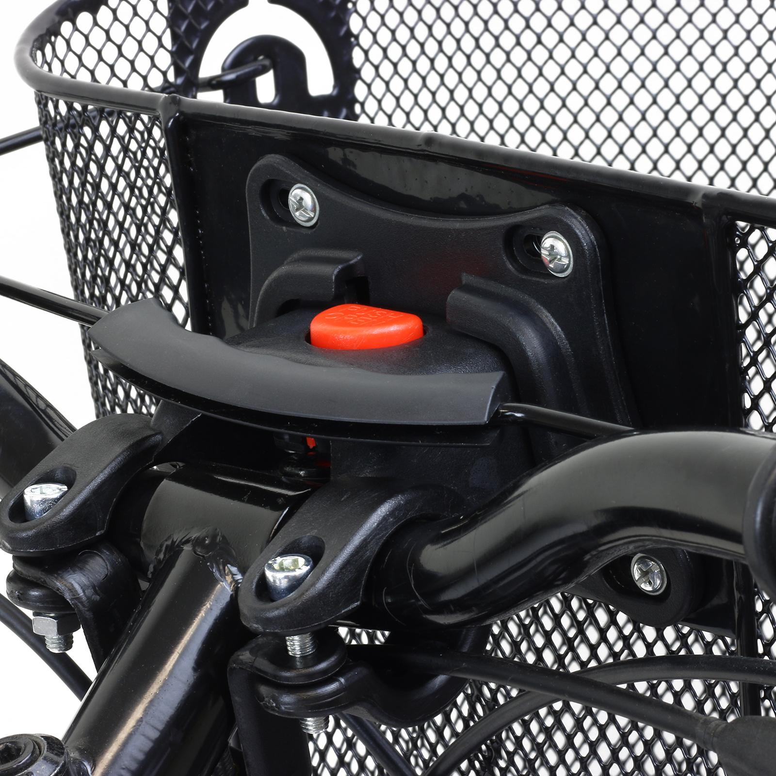 Bike//Bicycle//Cycle Metal Mesh Basket /& Quick Release Bracket Shopping Handle