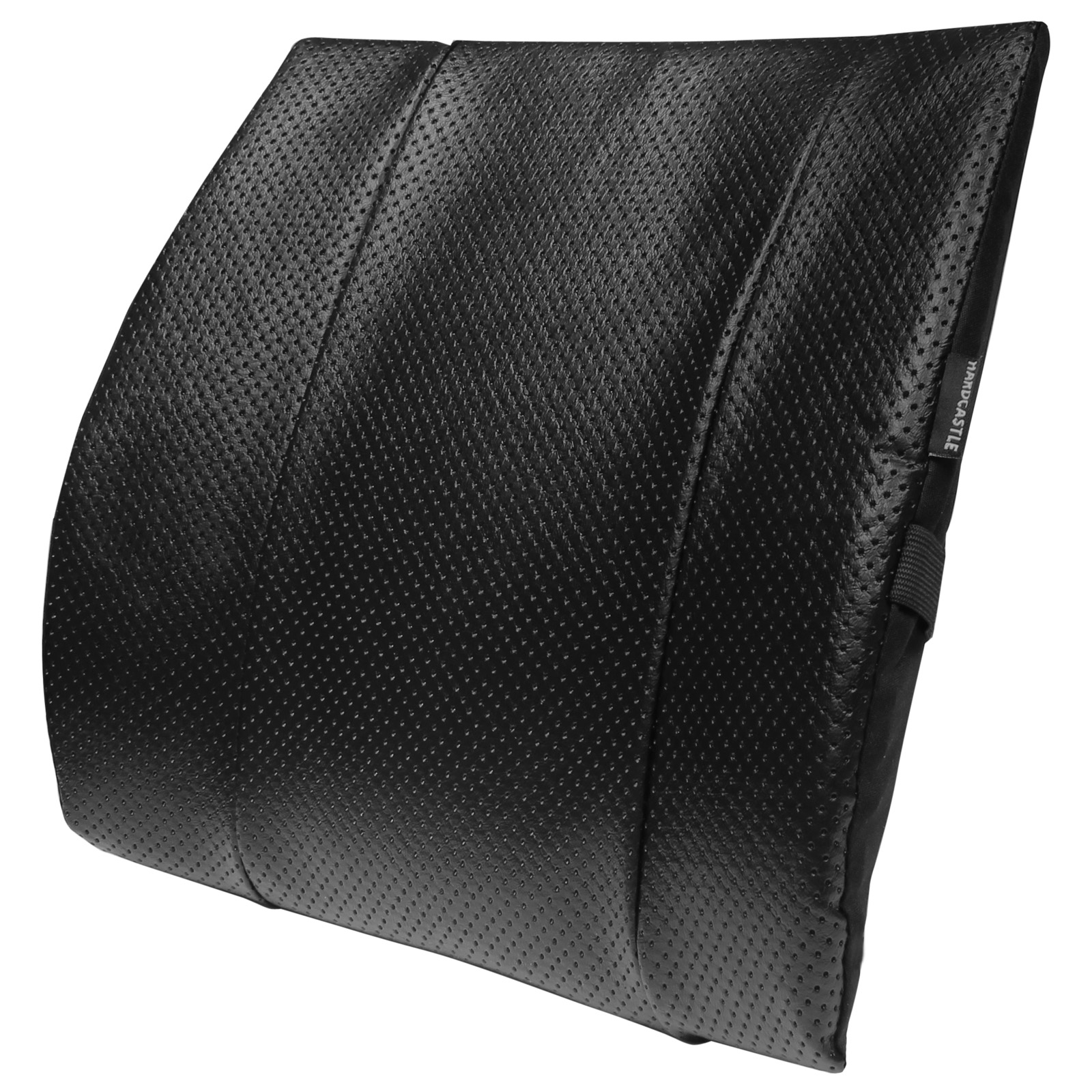 LOWER BACK LUMBAR SUPPORT SEAT//CHAIR CUSHION CAR//HOME//OFFICE LUMBER LEATHER LOOK