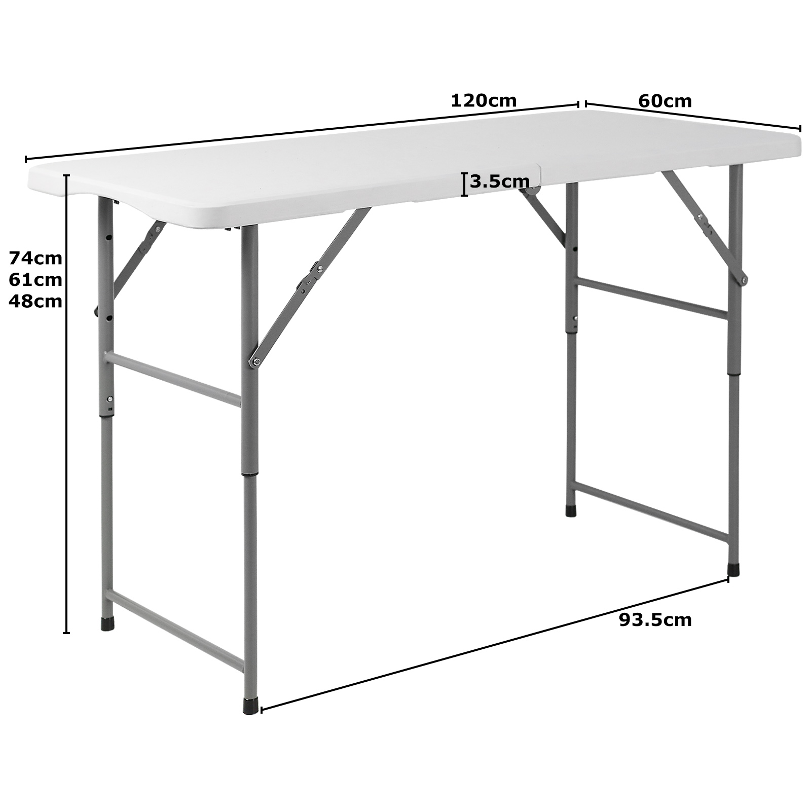 4ft folding banquet trestle table buffet wedding garden street party in out door ebay. Black Bedroom Furniture Sets. Home Design Ideas