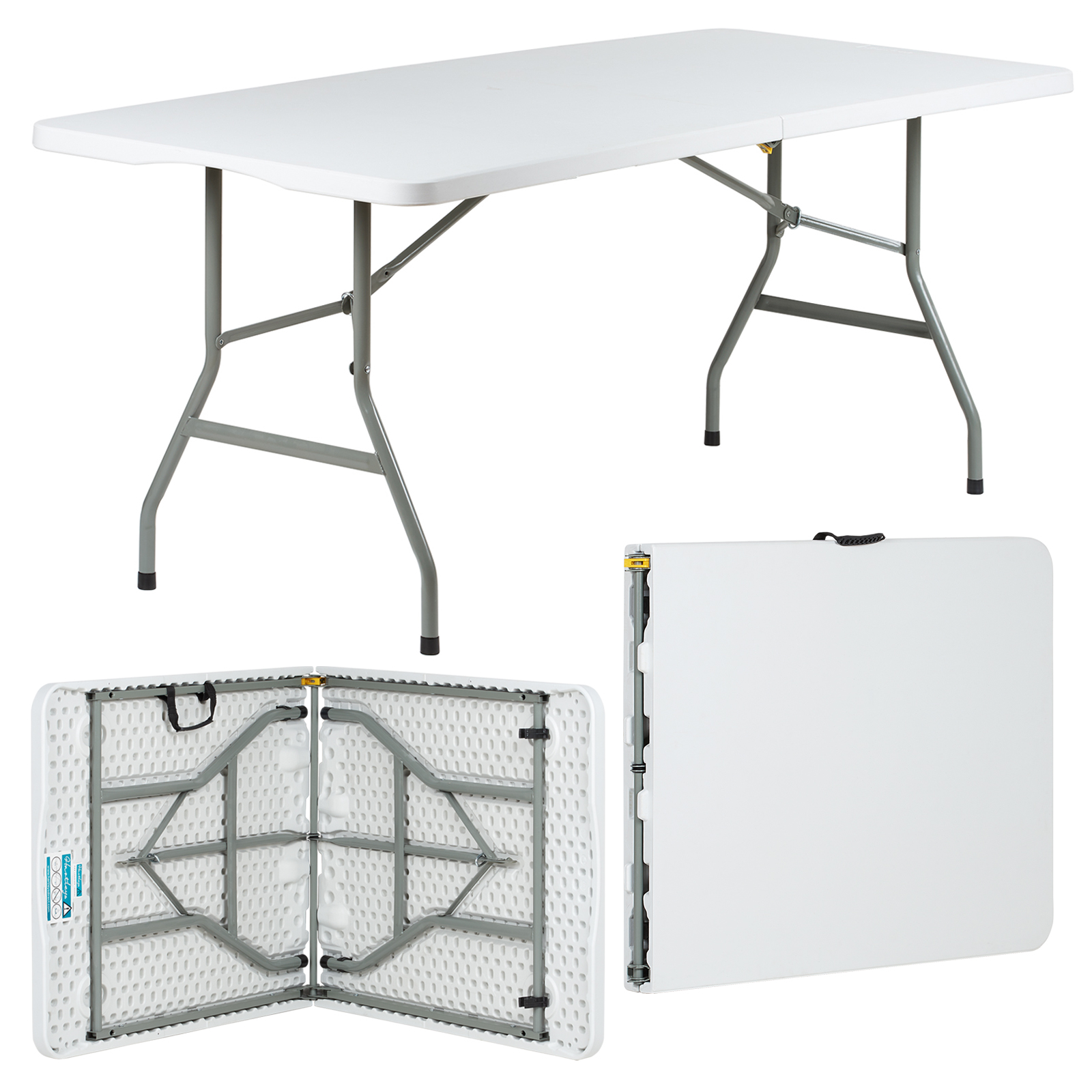 Tavoli Da Mercato Pieghevoli.6ft Folding Table Stall Market Fete Fair Art Camping Tradeshow