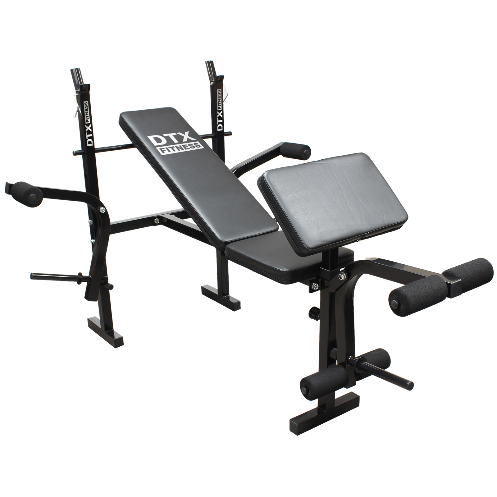 Dtx Fitness Weights Bench Multi Gym Dumbell Workout Leg