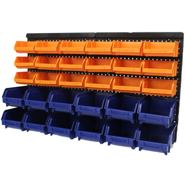 Sentinel Large 30pce Storage Bin/Tub Kit Wall Mount Garage/Warehouse Tool/ Bins/  sc 1 st  eBay & Large 30pce Storage Bin/Tub Kit Wall Mount Garage/Warehouse Tool ...