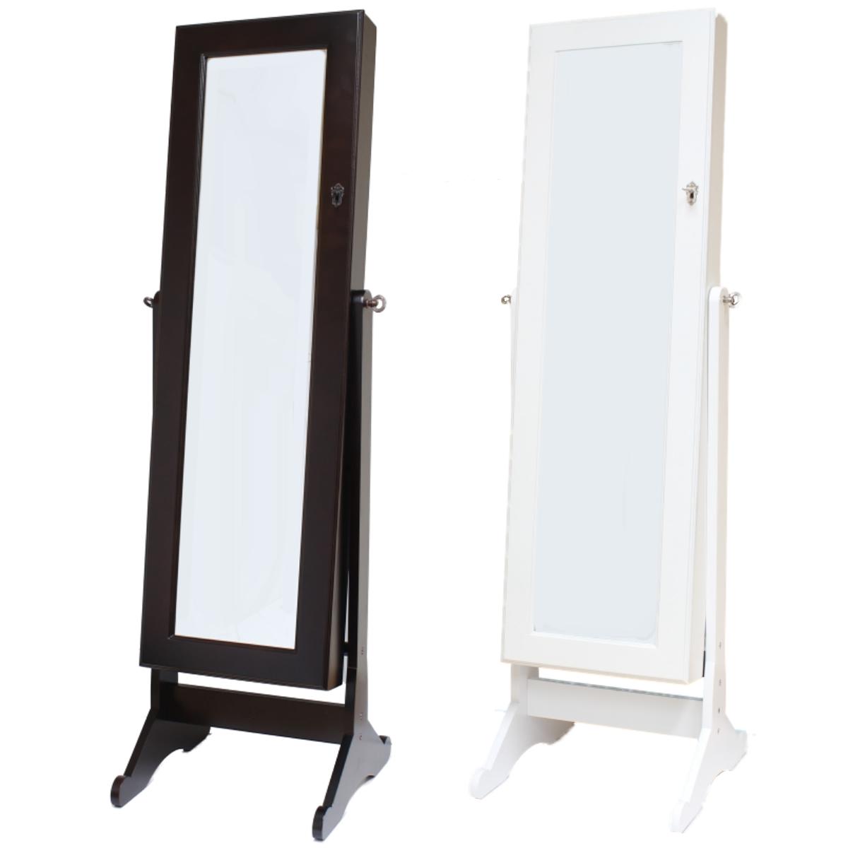 Floor Standing Mirror Jewellery Cabinet MF Cabinets