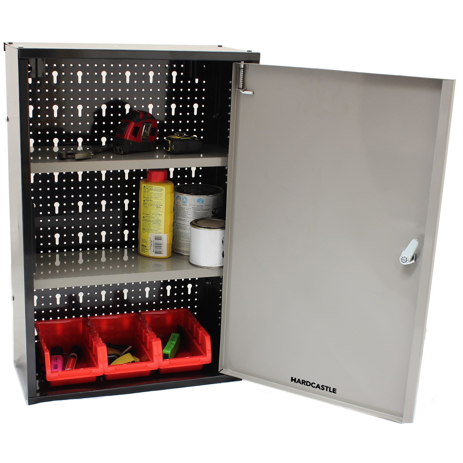 LOCKABLE METAL GARAGE/SHED STORAGE CABINET WALL UNIT TOOL