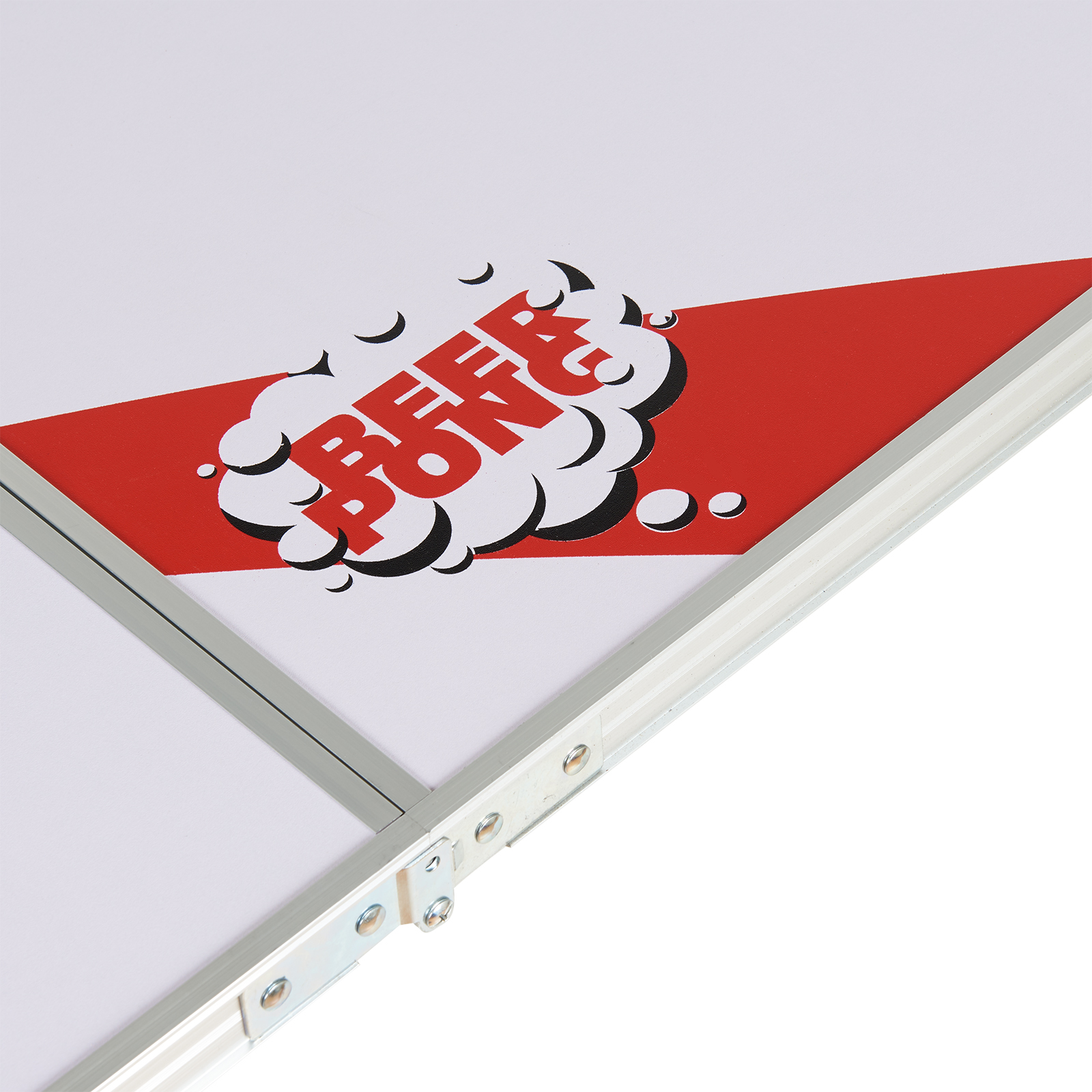 OFFICIAL 8' WHITE 4 SECTION FOLDING BEER PONG TABLE BBQ ...