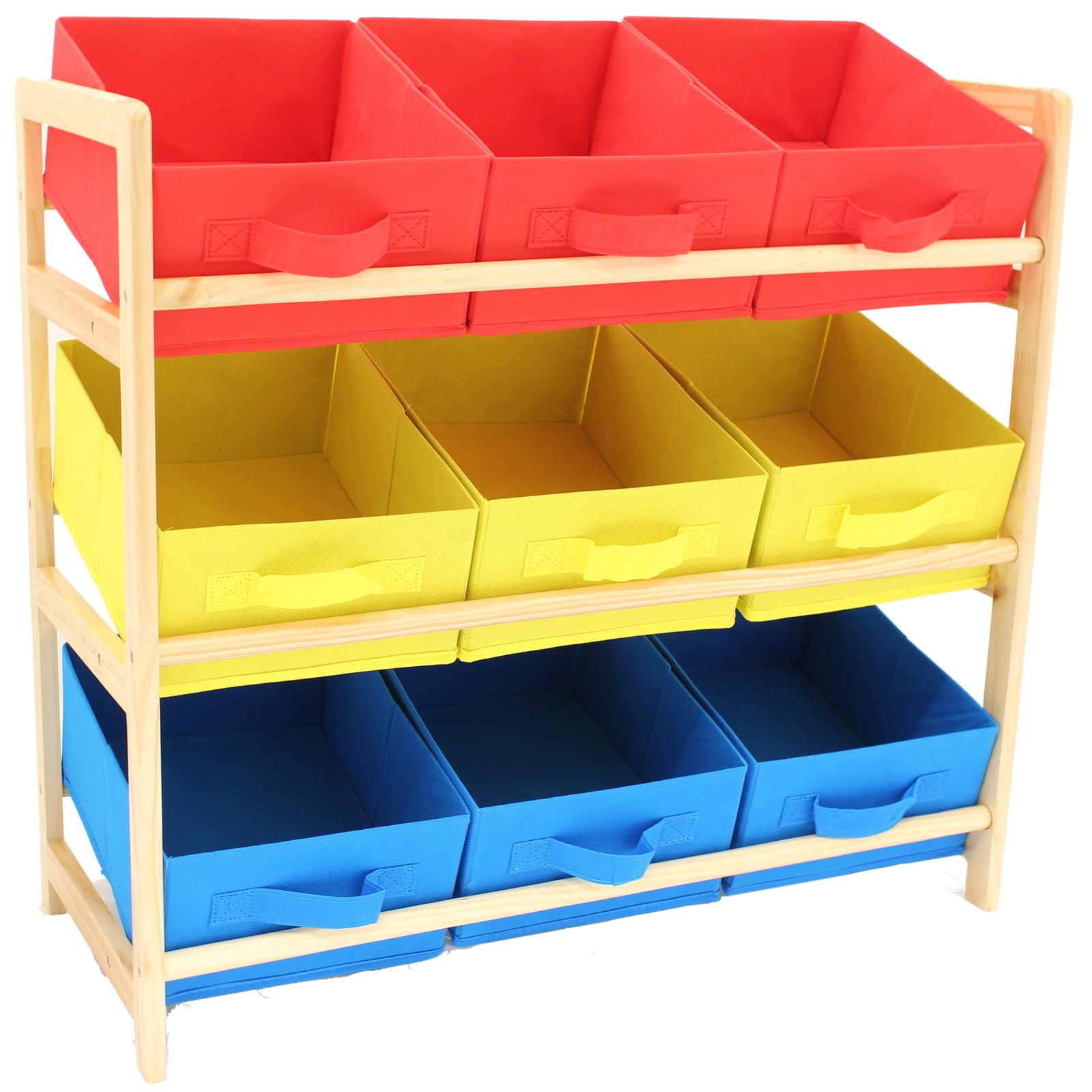 Kids Storage Cube Organizer Toy Box Kids Bedroom Furniture: Hartleys 3 Tier Storage Shelf Unit Kids Childrens Bedroom