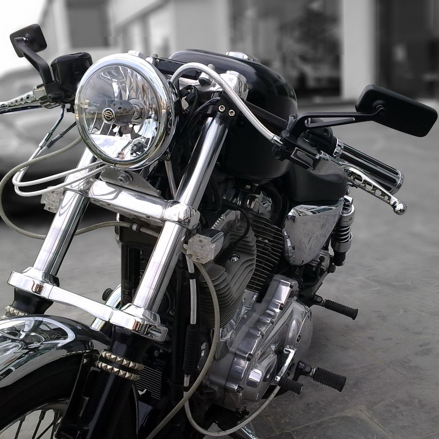 mirrors motorcycle rectangle bike 10mm motorbike ryde 8mm pair harley universal