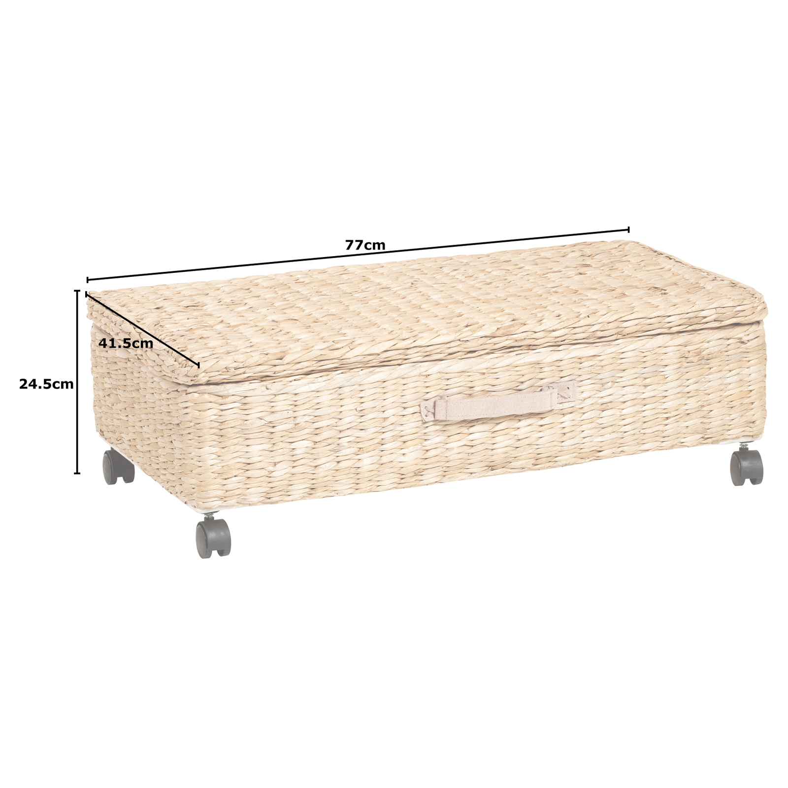 Large Under Bed Storage Box Trunk Wheeled Underbed Shoe